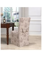 *Chateau T-cushion Dining Chair Slipcover - Taupe - Set of 2