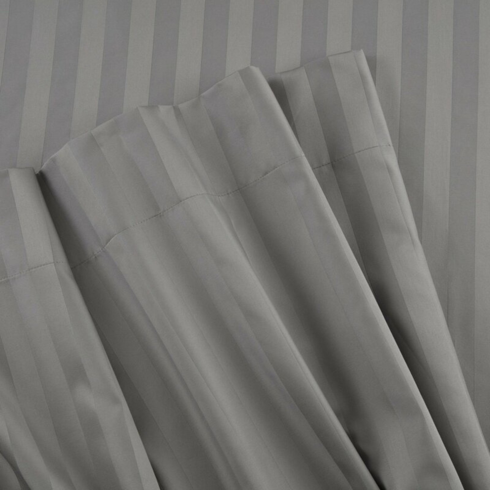 *Egyptian-Quality 500 Thread Count Striped 100% Cotton Standard Pillowcase - Set of 2