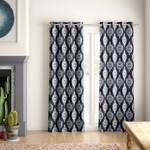 """*52"""" x 84"""" - Kassie Damask Room Darkening Thermal Grommet Curtain Panels - Set of 2"""