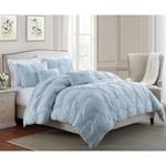 *Twin/Twin XL - Gracie Floral Pintuck Comforter Set - Blue - Final Sale