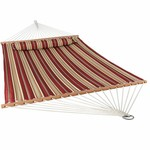 *Cora Double Camping Hammock - Red Stripe