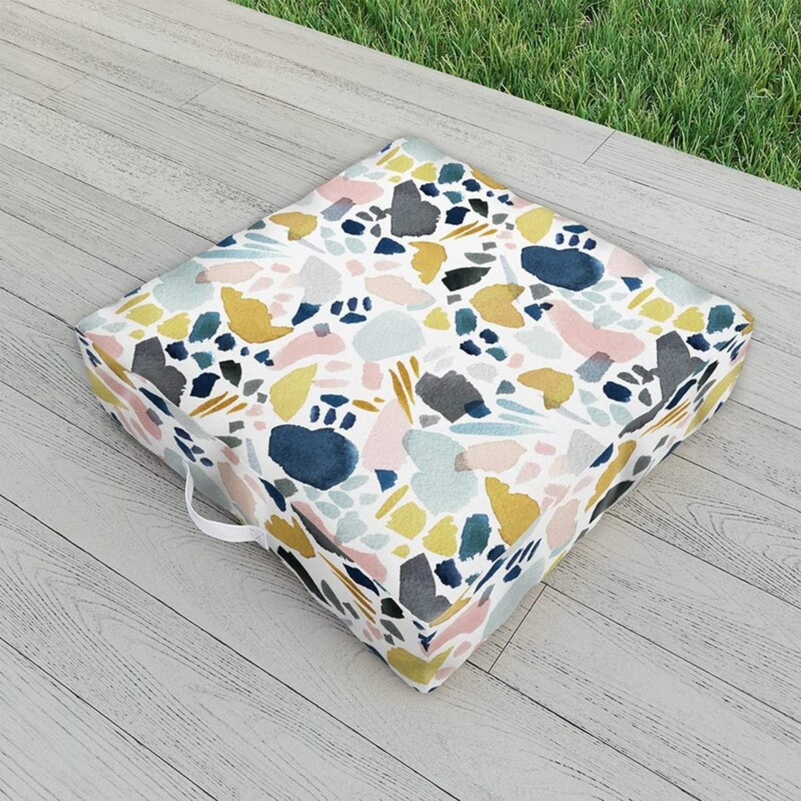 """*26"""" x 26"""" - Indoor / Outdoor Floral Floor Pillow"""