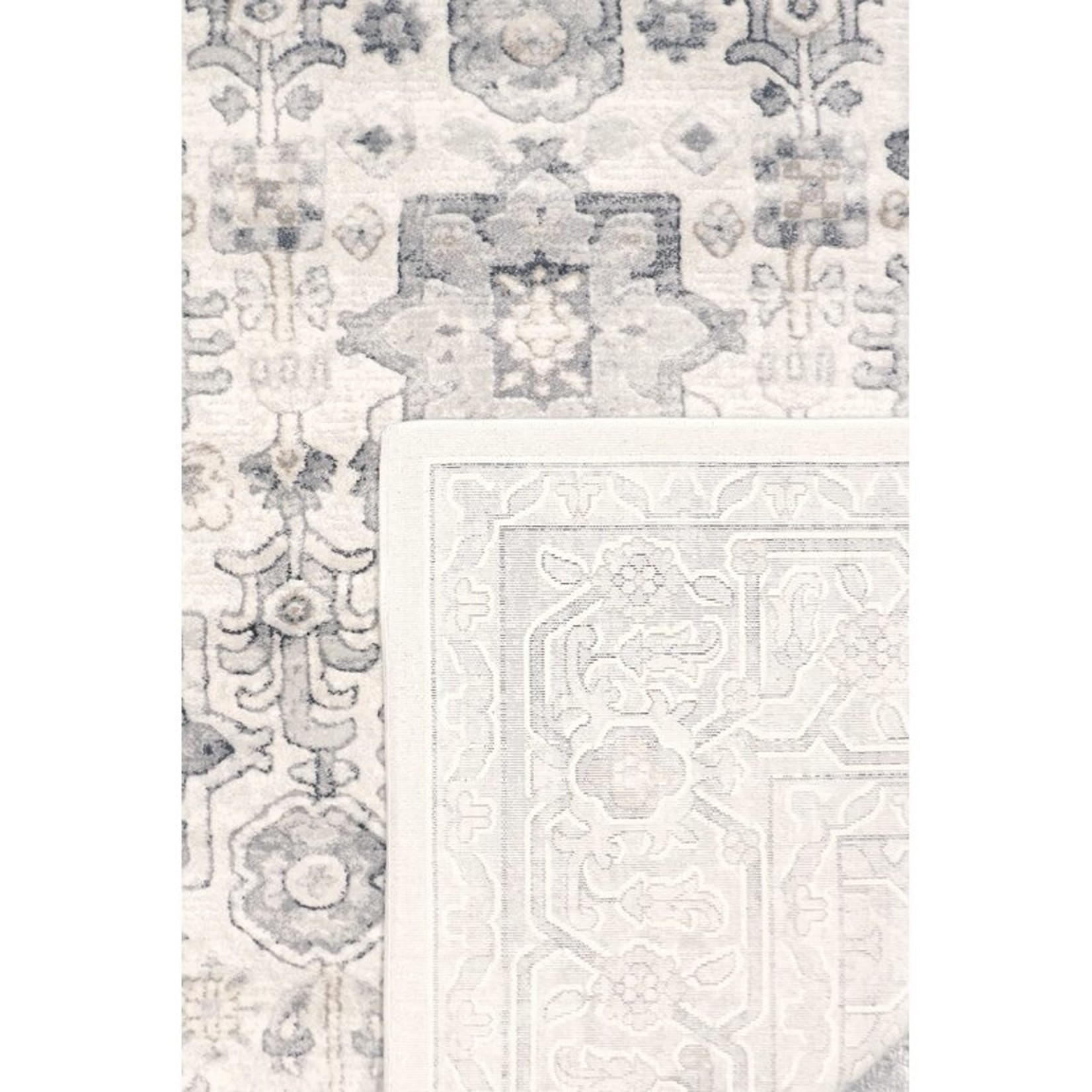 "*2'6"" x 10' - Amadeus Oriental Ivory/Gray Area Rug"