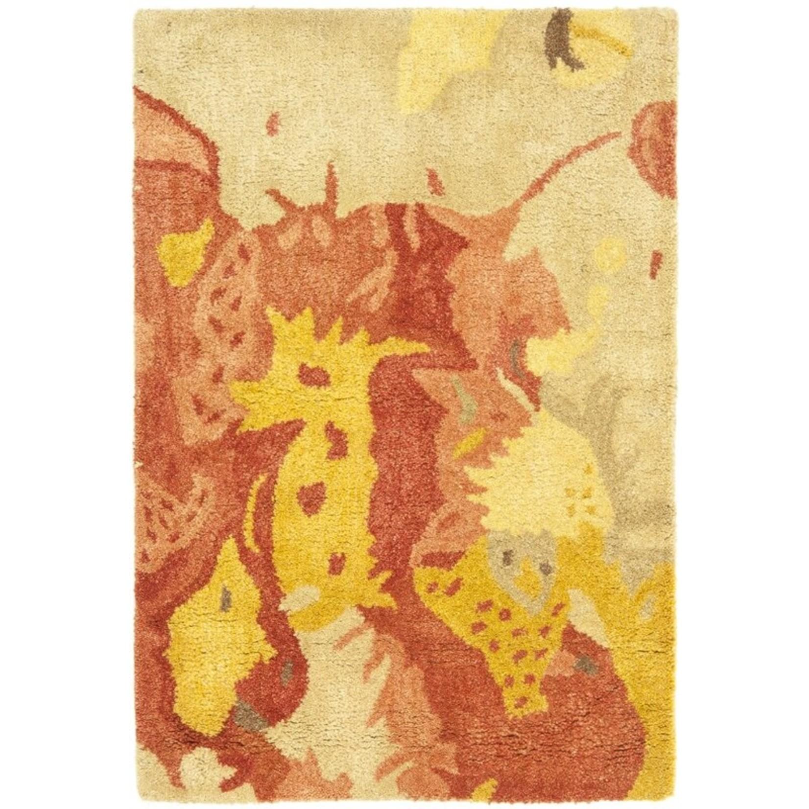 "*3'6"" x 5'6"" - Camren Abstract Handmade Tufted Wool Yellow/Orange Area Rug"