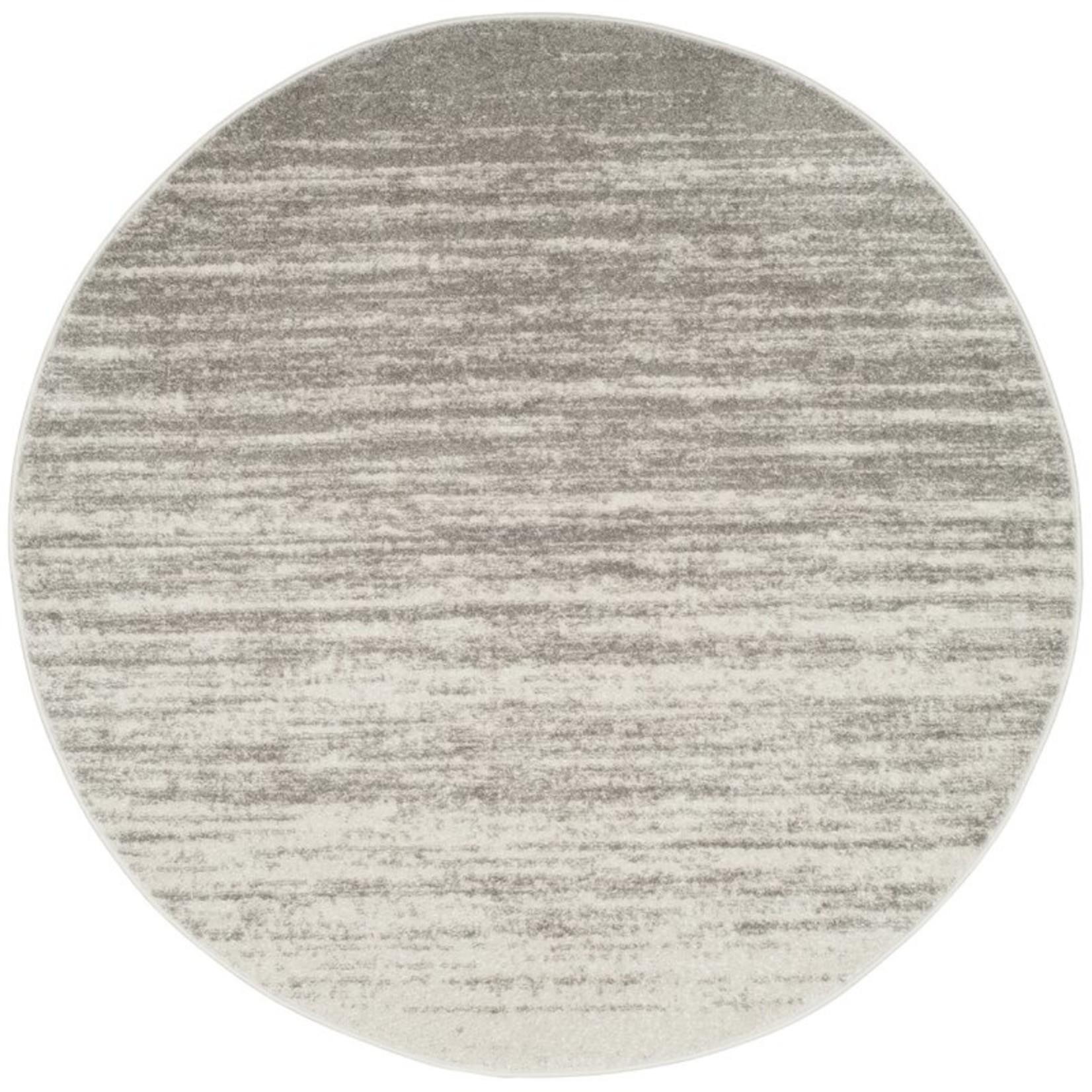 *4' Round - Connie Power Loom Gray Rug