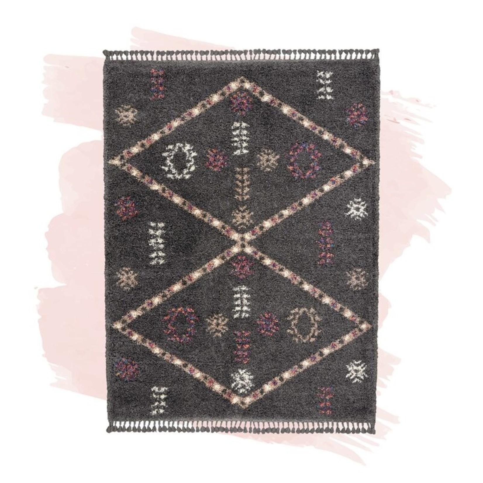 "*4' x 6'3"" - Coby Bohemian Tribal Southwestern Shag Gray/Cream Area Rug"