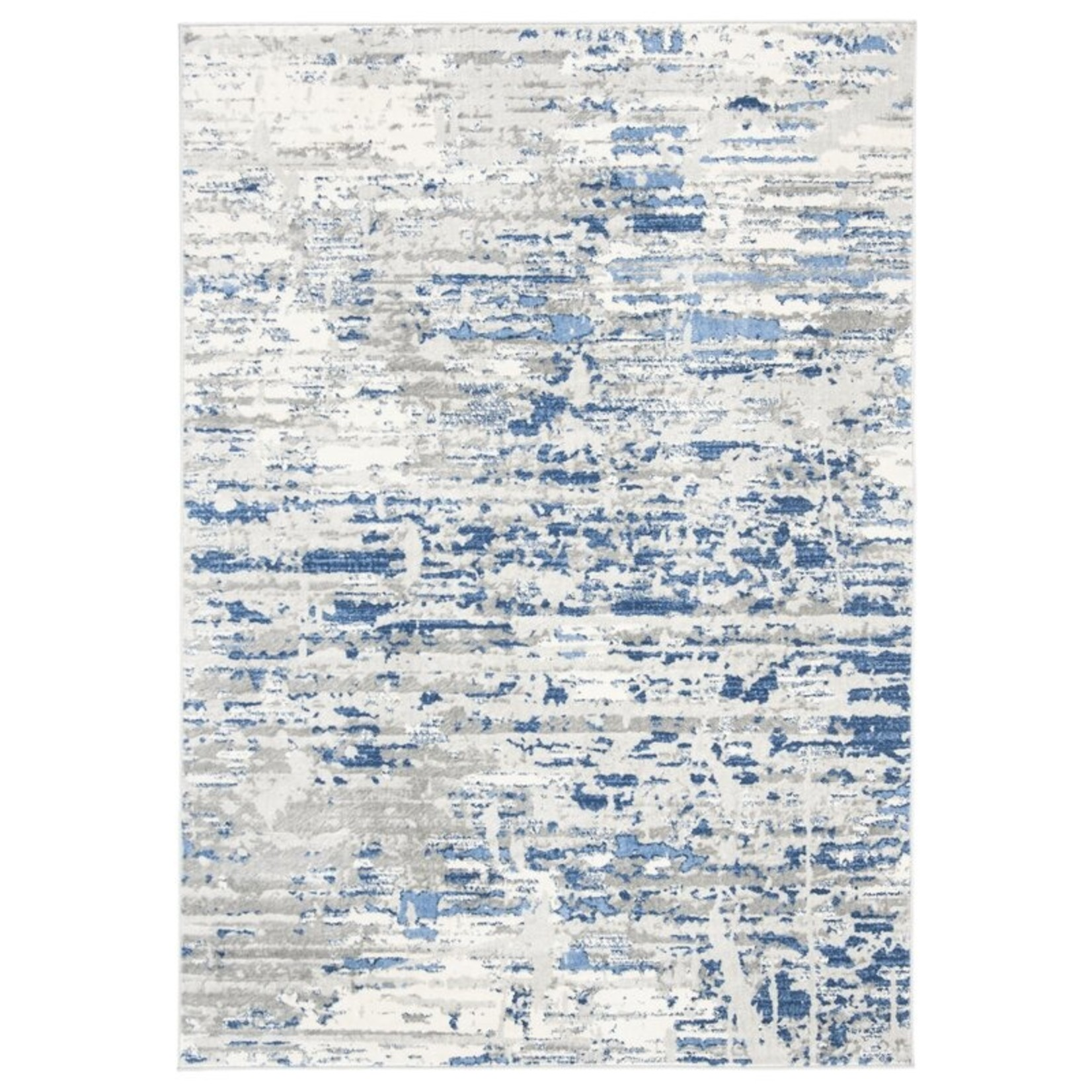 *3' x 5' - Muro Abstract Ivory/Blue Area Rug