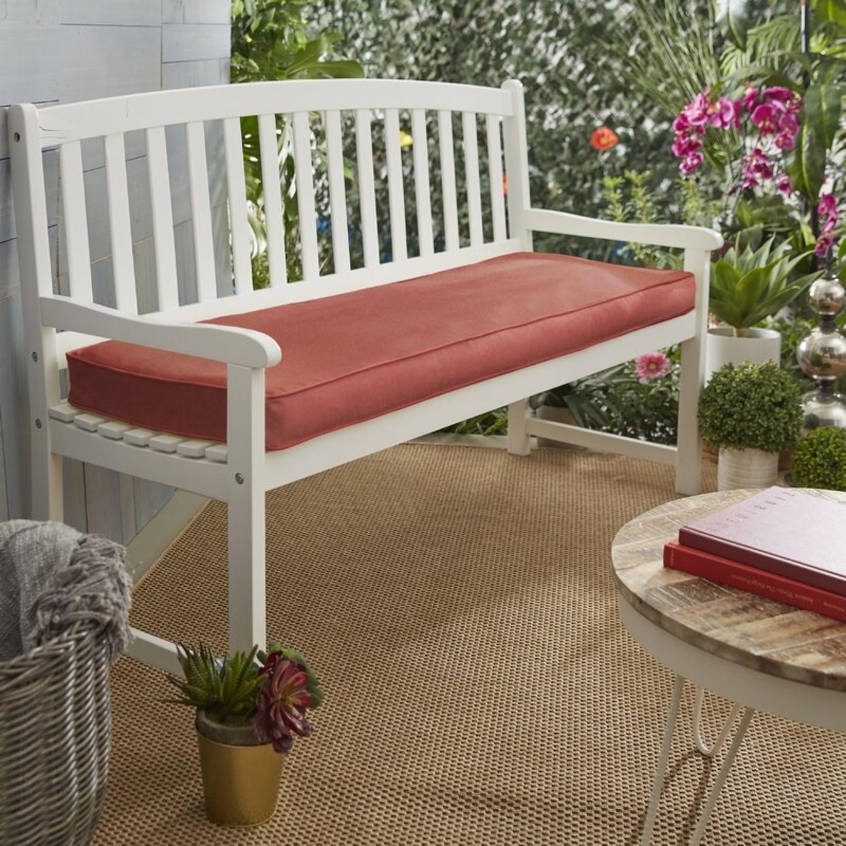 *Outdoor Sunbrella Bench Seat Cushion - Canvas Henna
