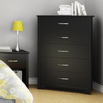 *Fusion 5 Drawer Chest - Black - Slight Damage to Side Panel/Scratched top