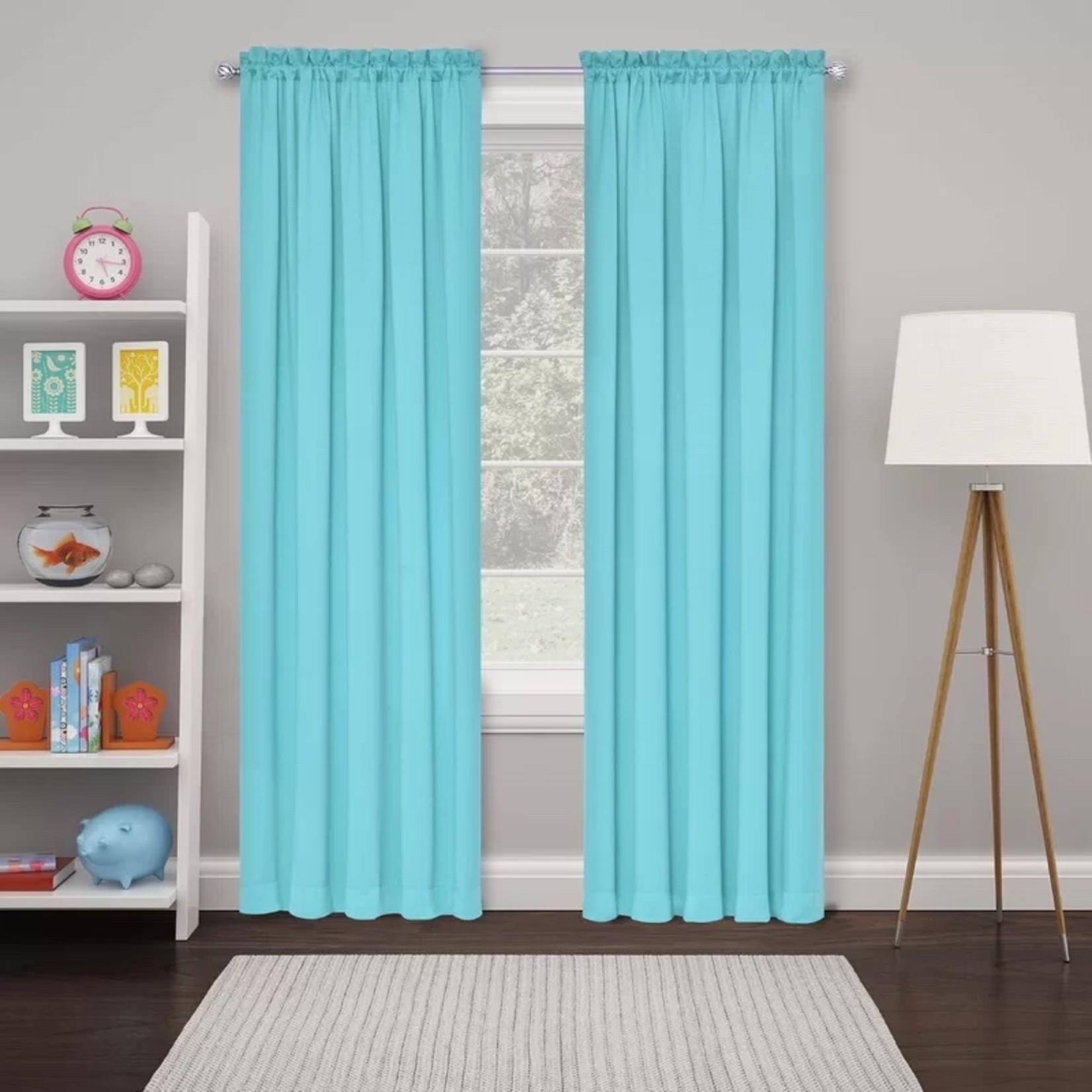 "*26"" x 84"" - Lochlan Solid Room Darkening Rod Pocket Curtain Panels - Turquoise - Set of 2"
