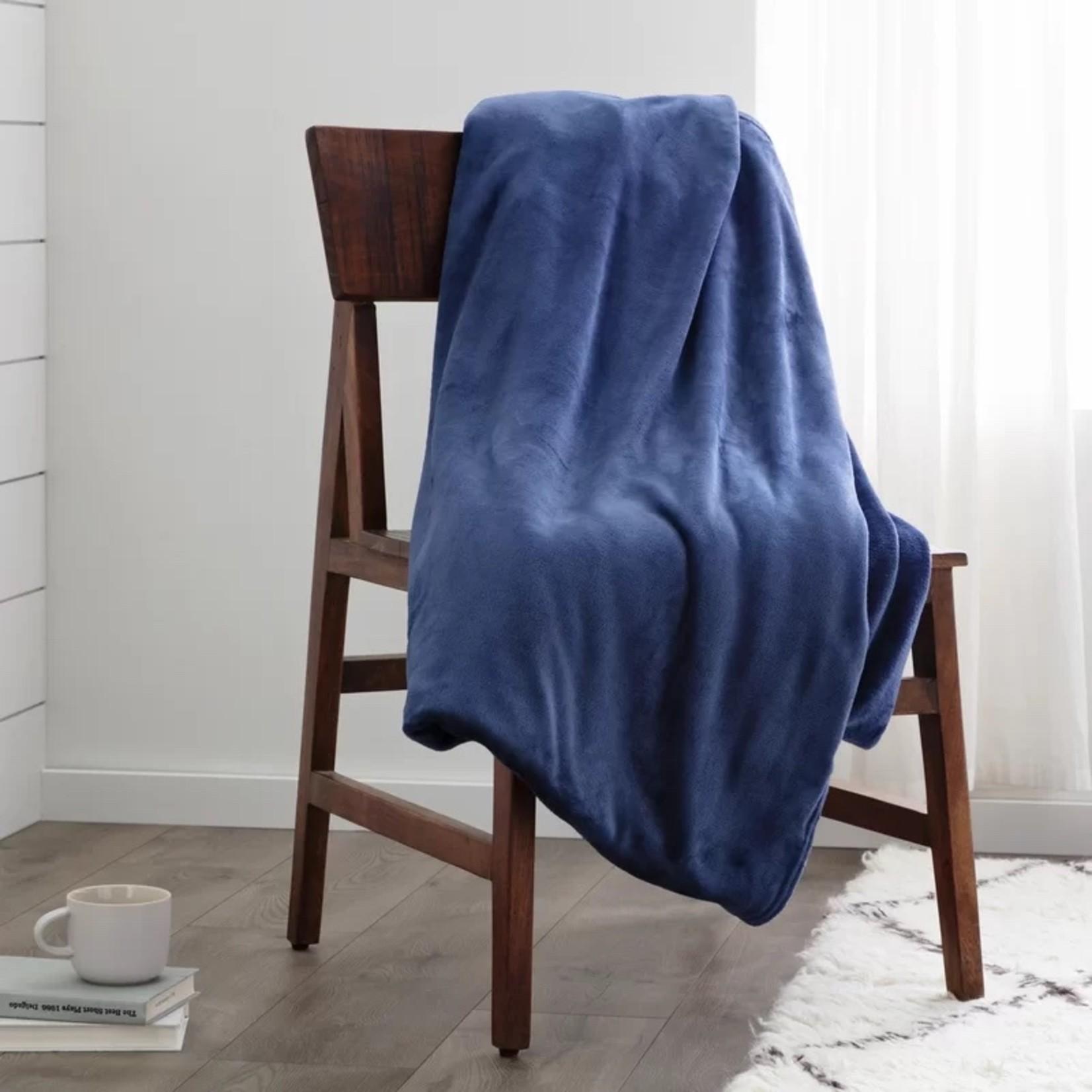 *Wayfair Basics Fleece Blanket - Navy - 127cm x 152cm - Final Sale