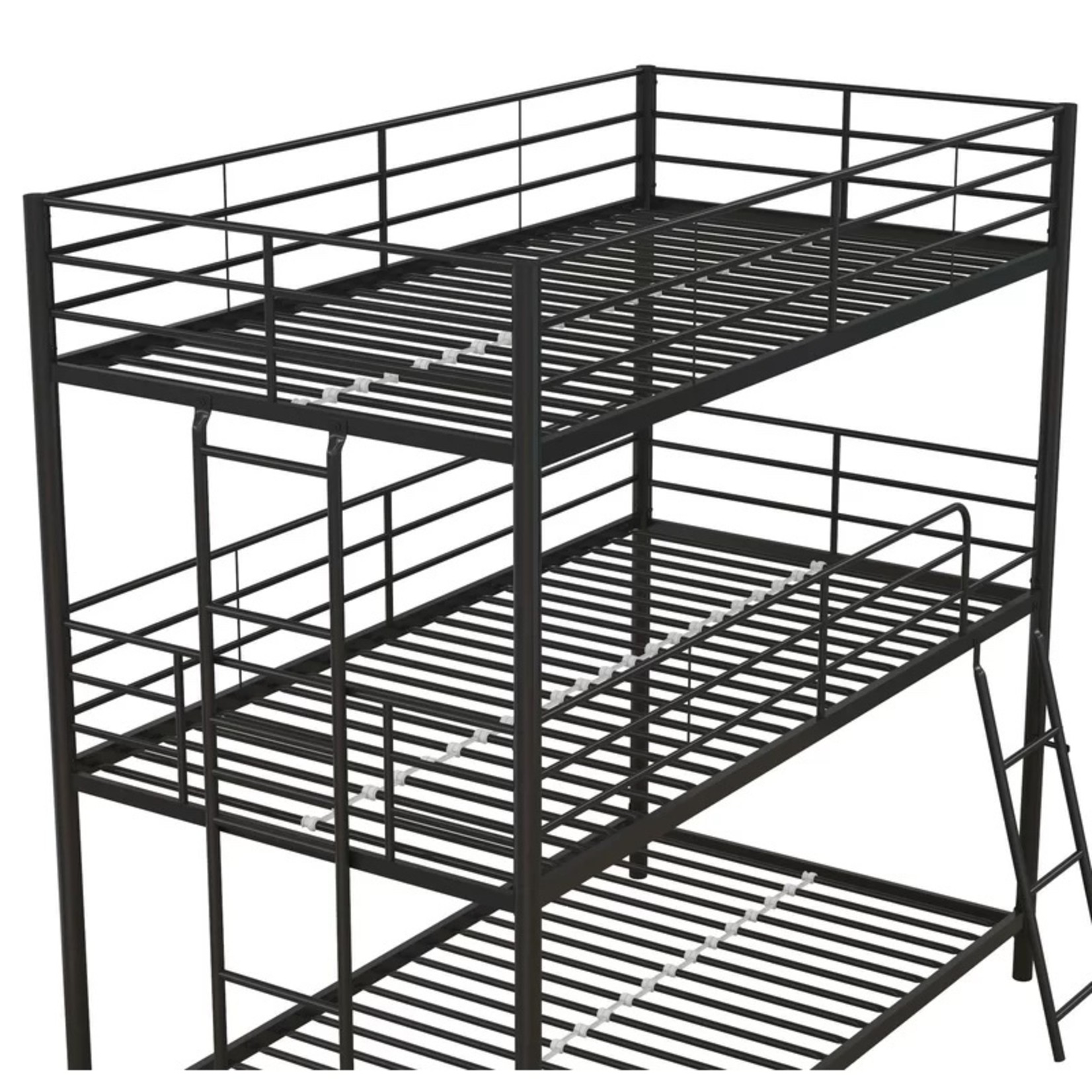 *Twin/Twin/Twin - Everton Metal Triple Bed - Black