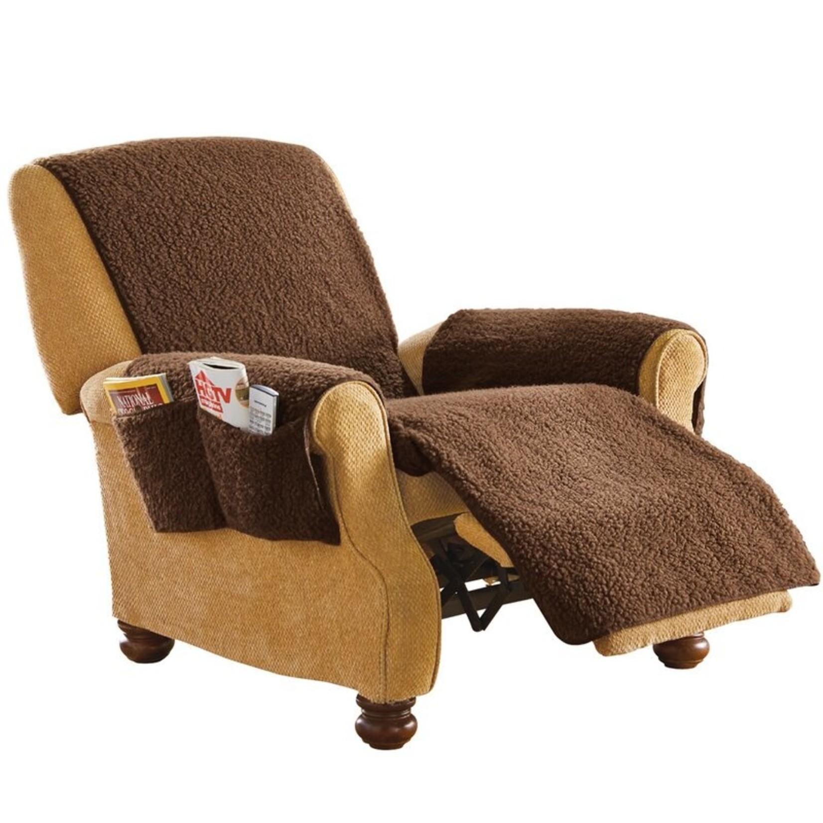*Box Cushion Recliner Slipcover - Brown