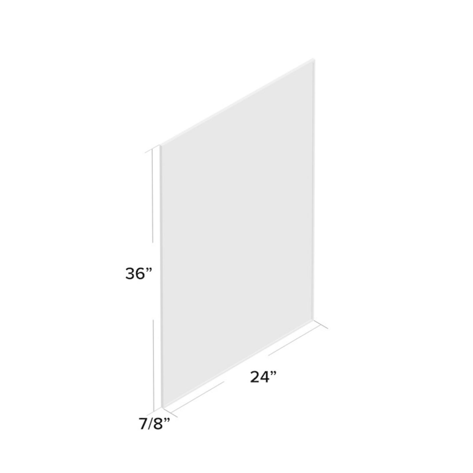 "*Newtown Modern & Contemporary Bathroom / Vanity Mirror - Black - 36"" x 24"""