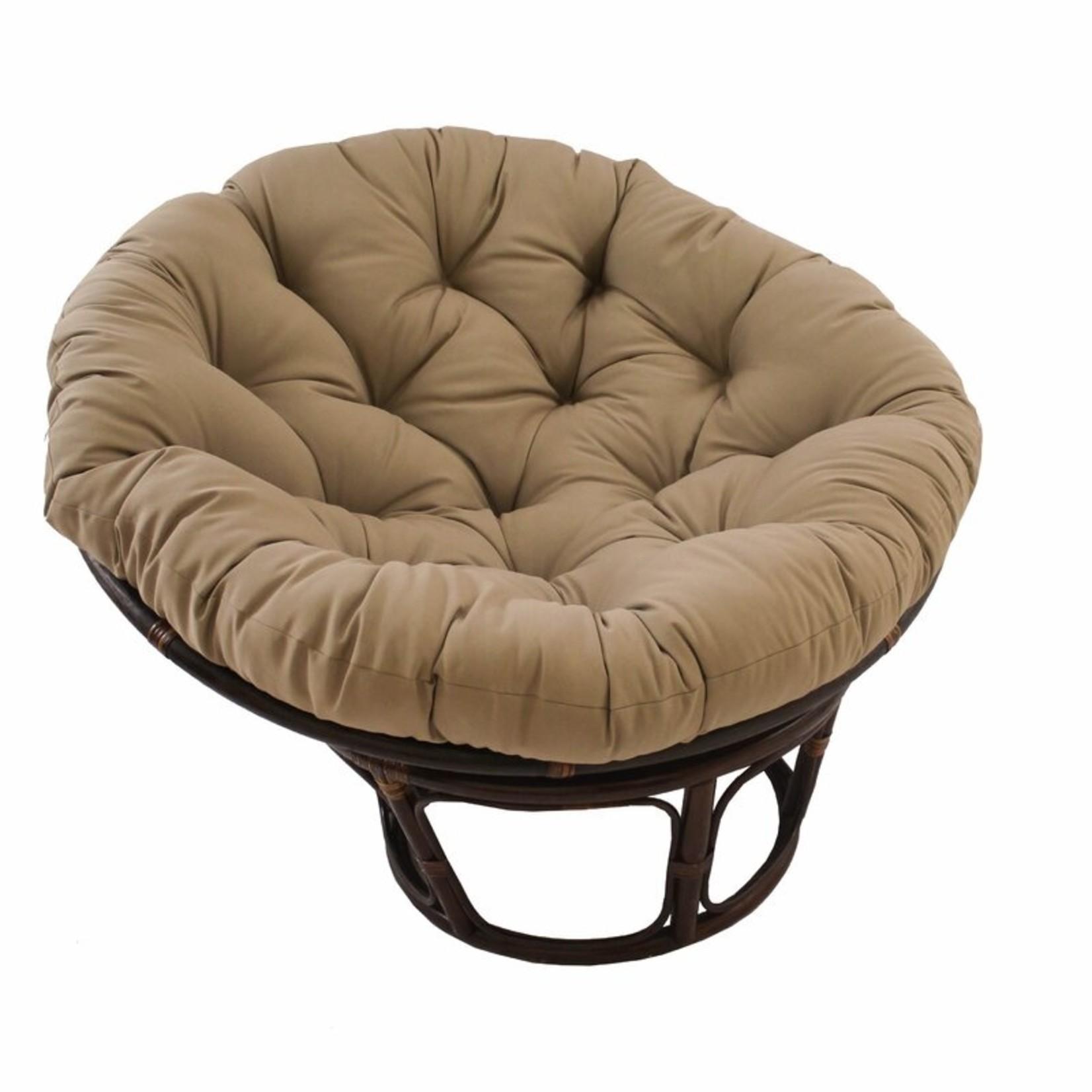 *Papasan Indoor Lounge Chair Cushion - Toffee