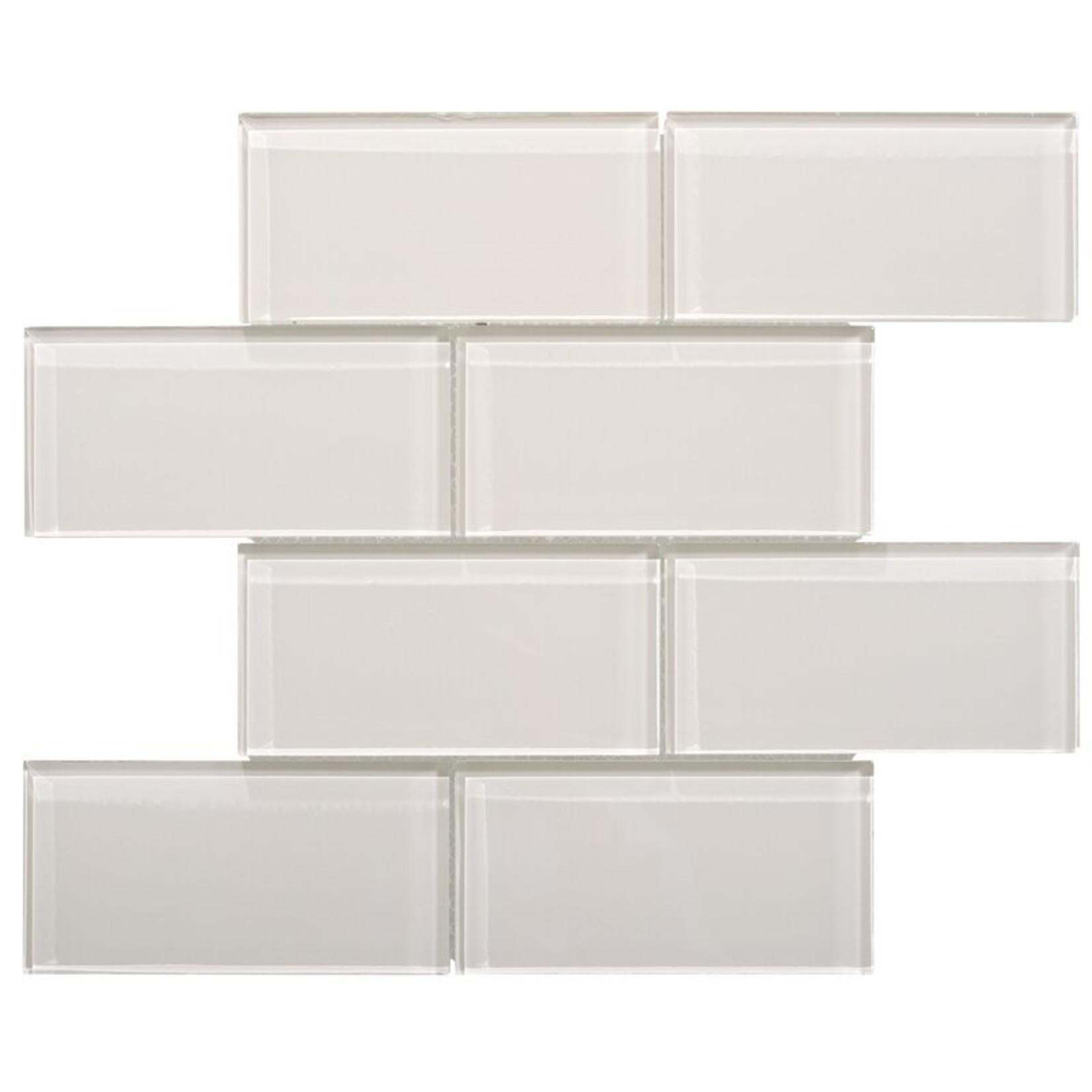 "*Premium 3"" x 6"" Glass Mosaic Subway Tile - Taupe"