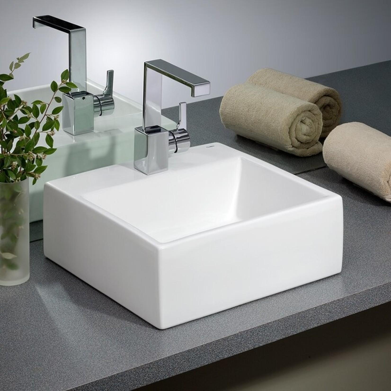 *Rio Vitreous China Rectangular Vessel Bathroom Sink