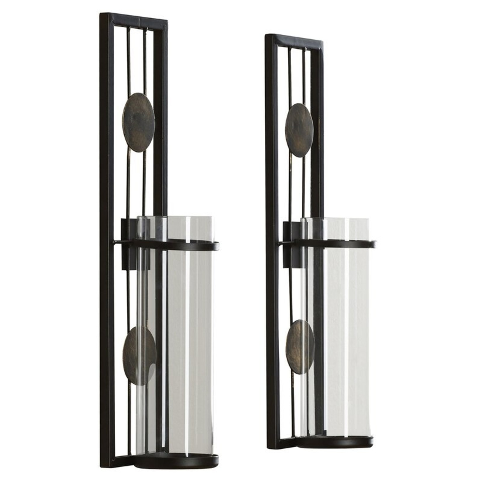 *Contemporary Tall Metal Wall Sconce - Set of 2
