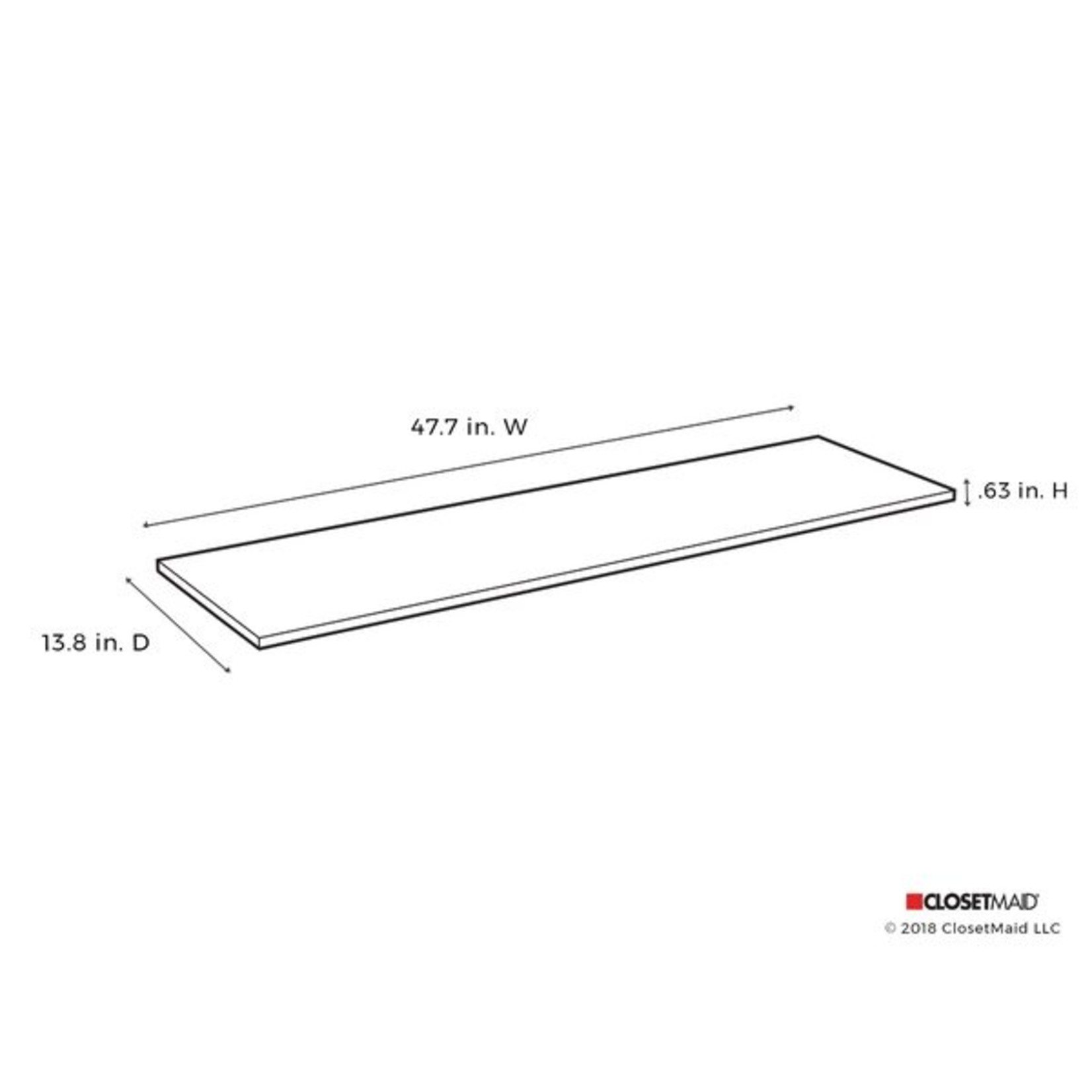 """*SuiteSymphony 48"""" W Top Shelf - Pure White - Set of 4"""