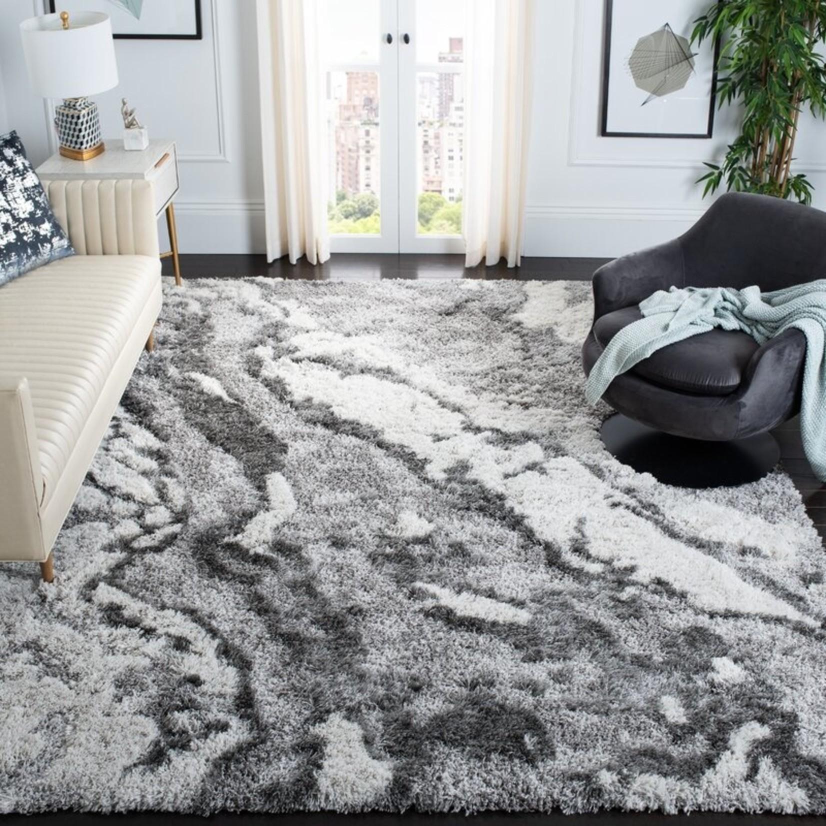 *10' x 14' Anguiano Abstract Gray/Ivory Area Rug