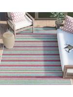 """*5'3"""" x 7'6"""" - Shofner Striped Pink/Green Indoor/Outdoor Area Rug"""