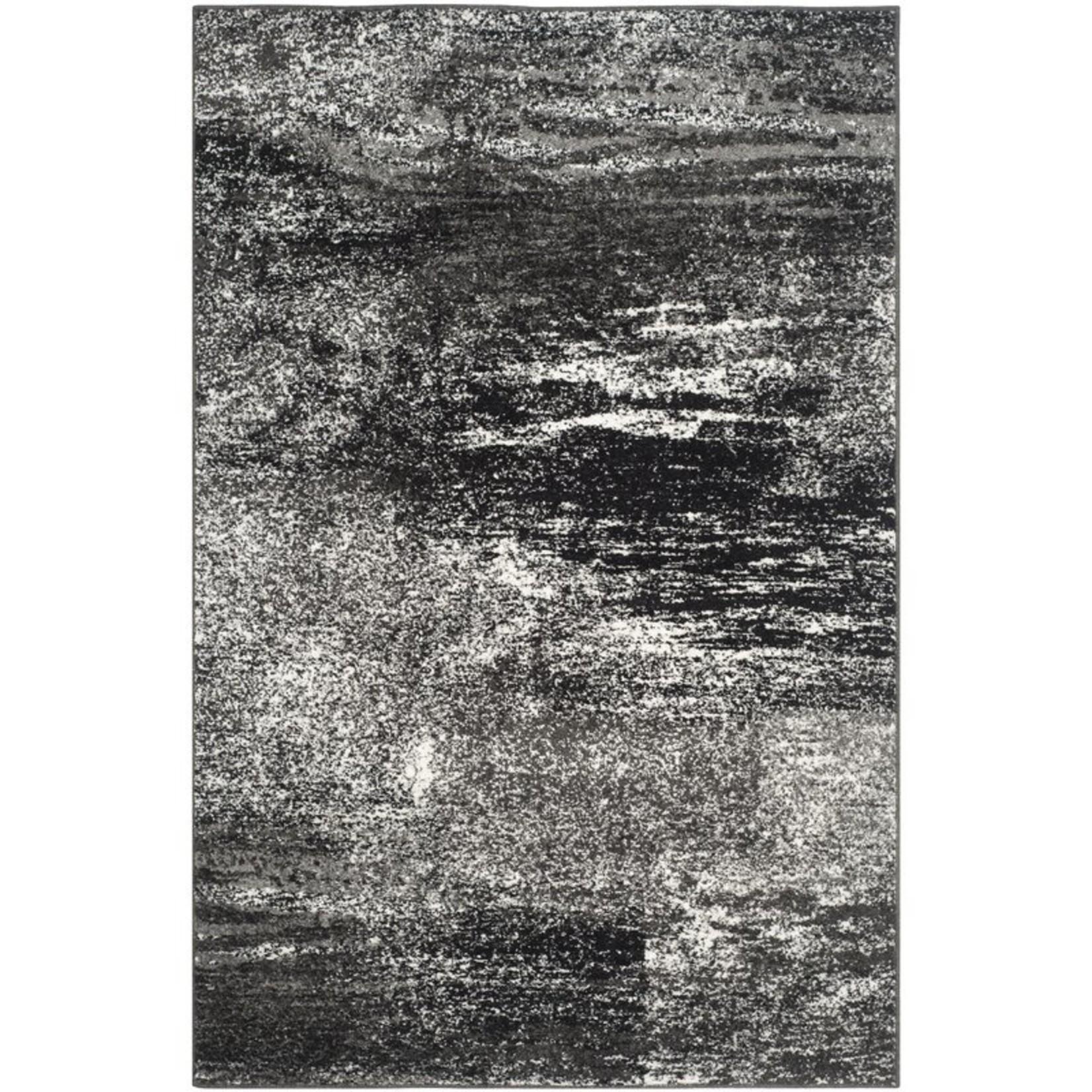"*5'1"" x 7'6"" - Costa Mesa Silver/Black Area Rug"