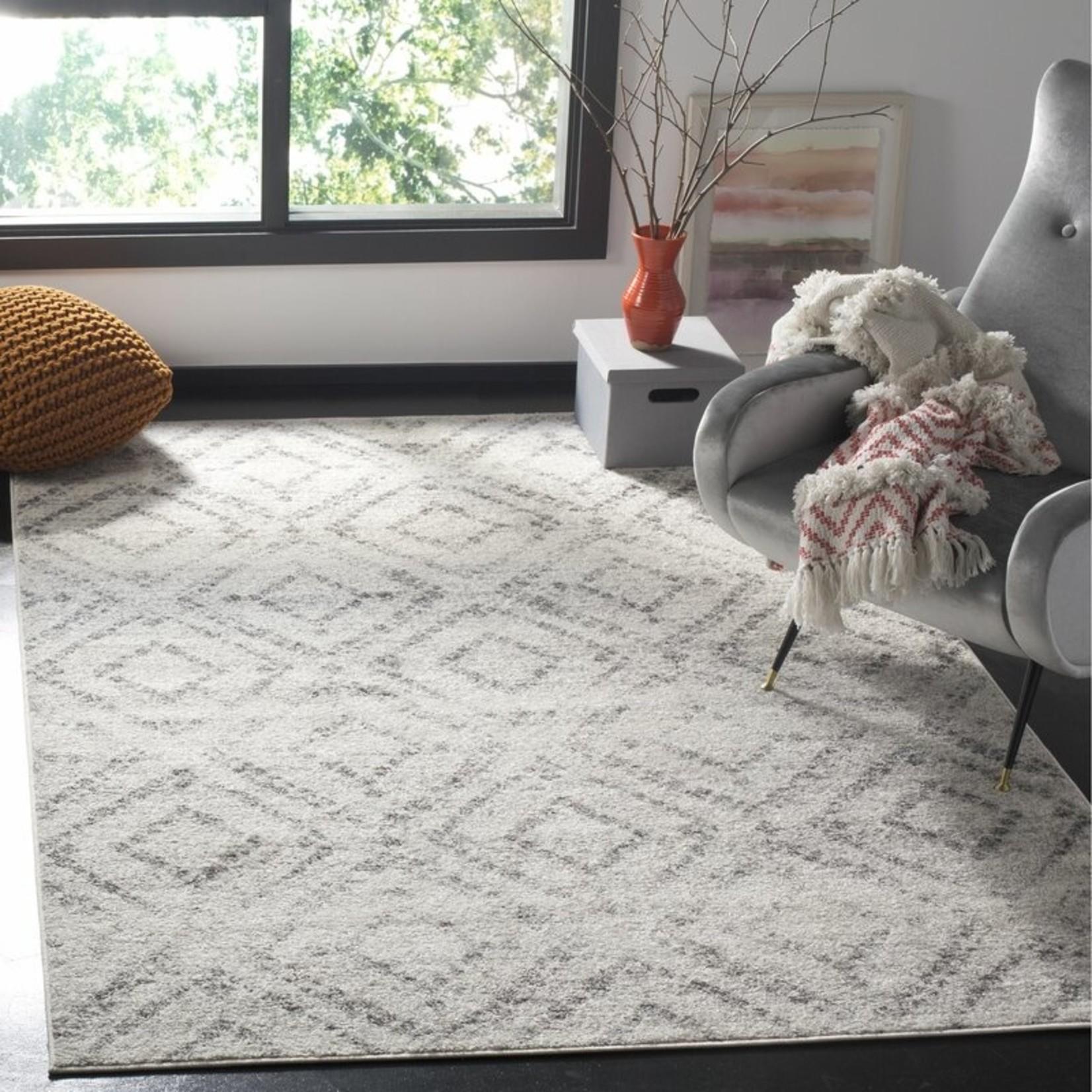 *11' x 15' - Shelva Geometric Light Gray/Gray Area Rug