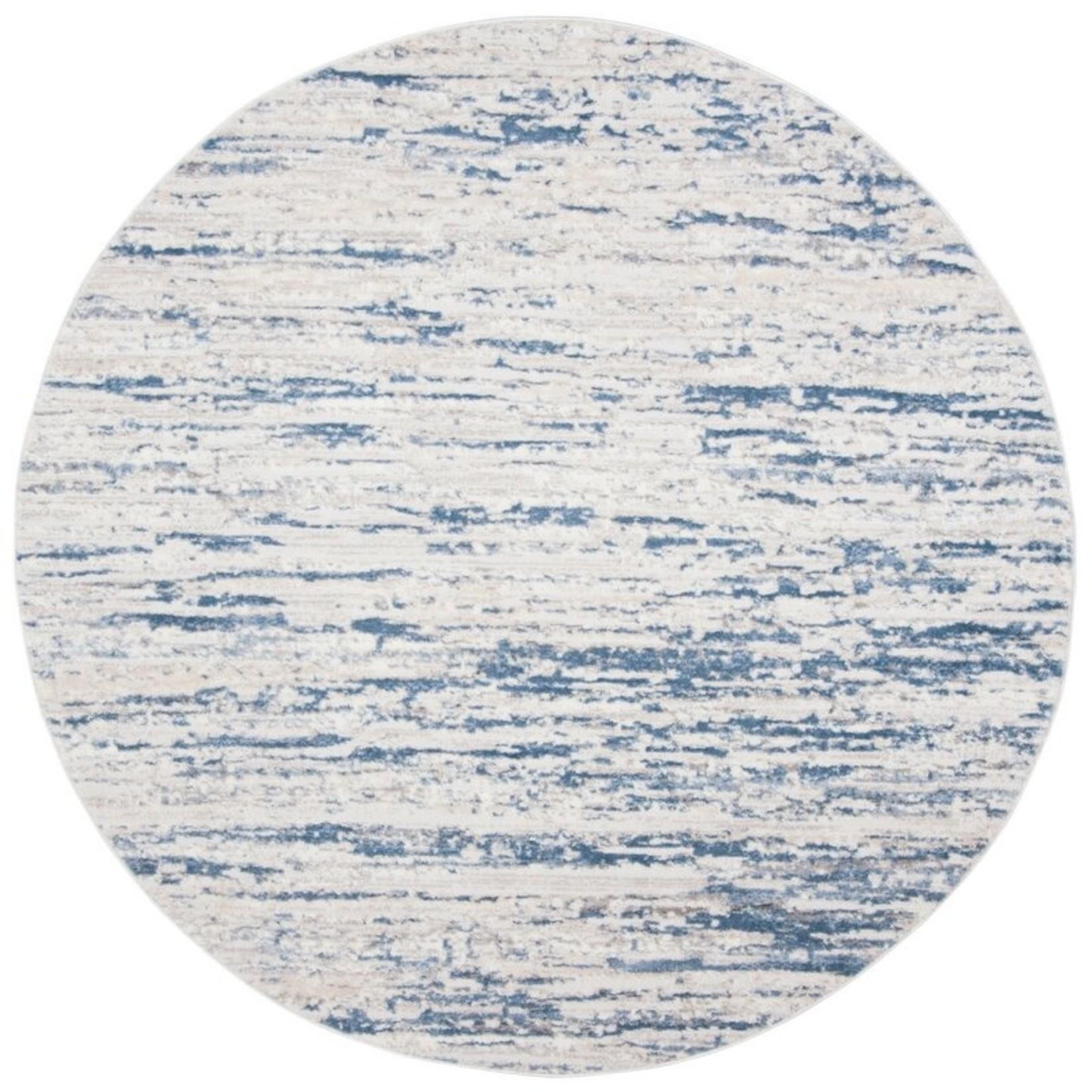 *3' Round - Granada Abstract Blue Area Rug