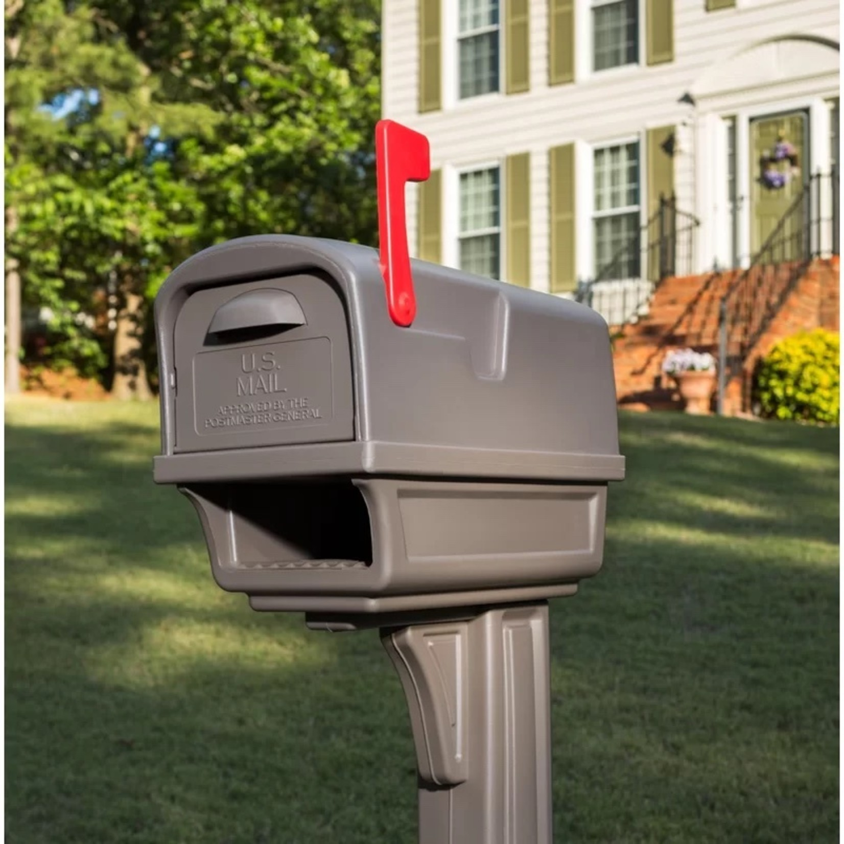 *Gentry All-in-One Post Mounted Mailbox -Mocha