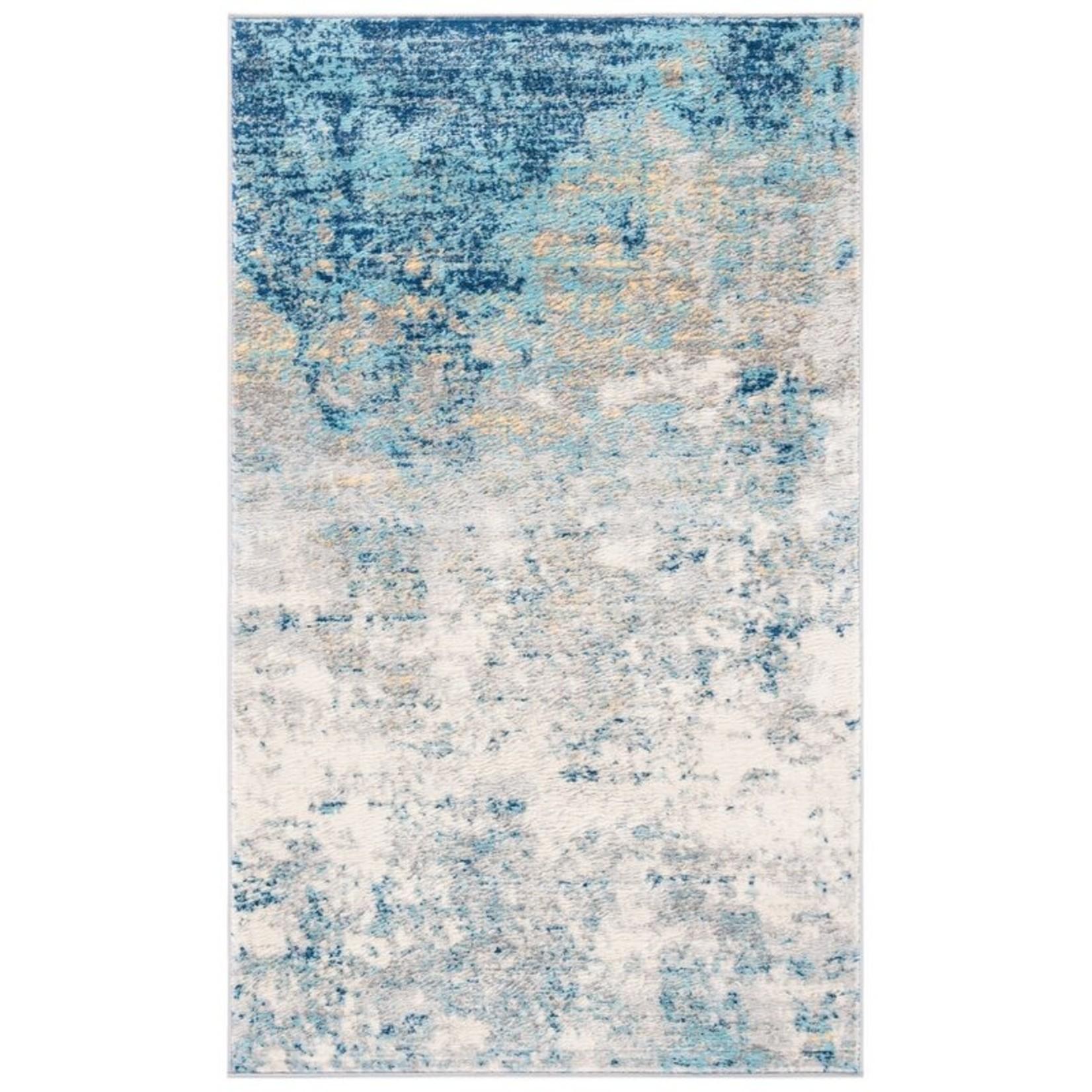 *3' x 5' - N'Keal Light Gray/Blue Rug