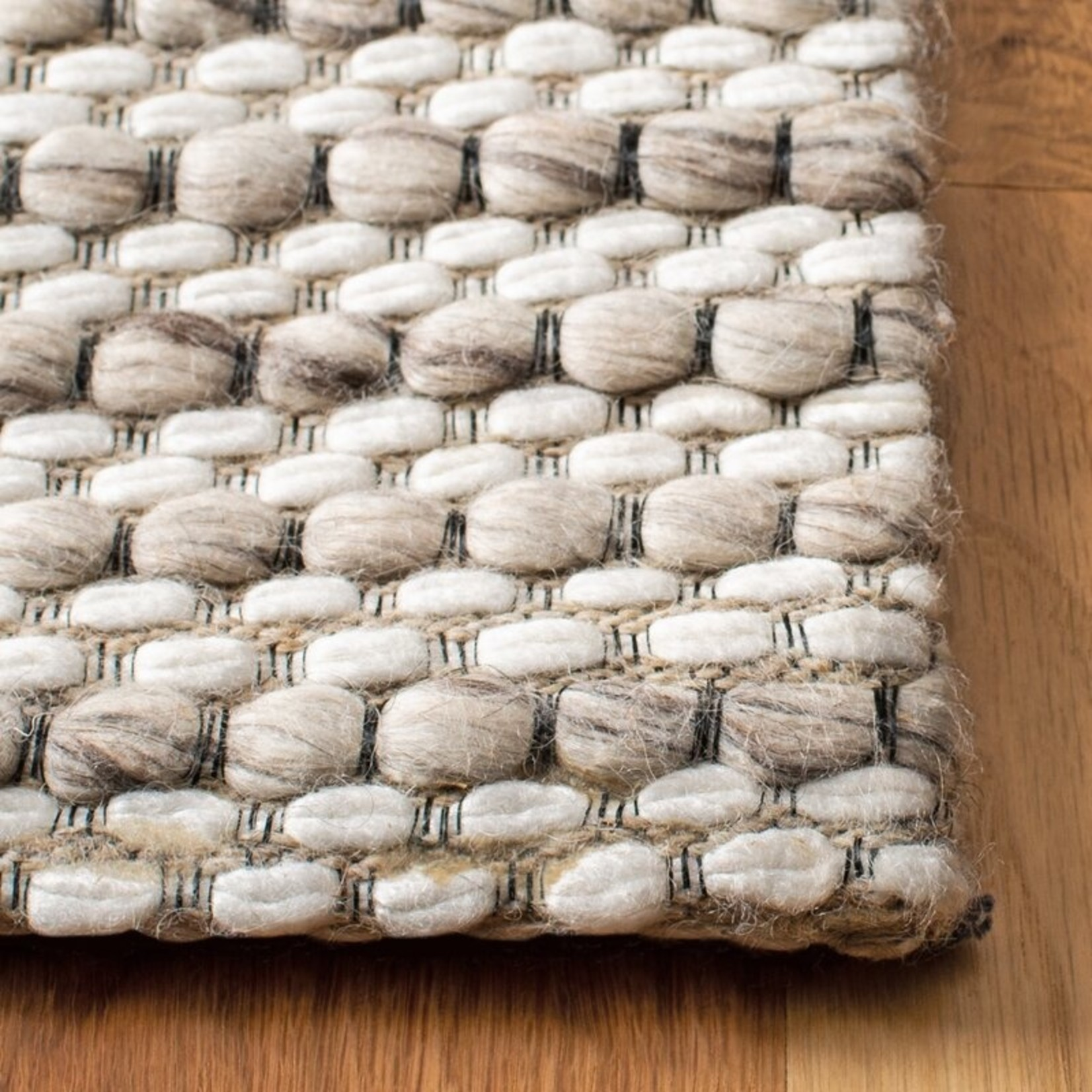 *3' x 5' -  Roque Flatweave Wool Light Brown/Ivory Area Rug