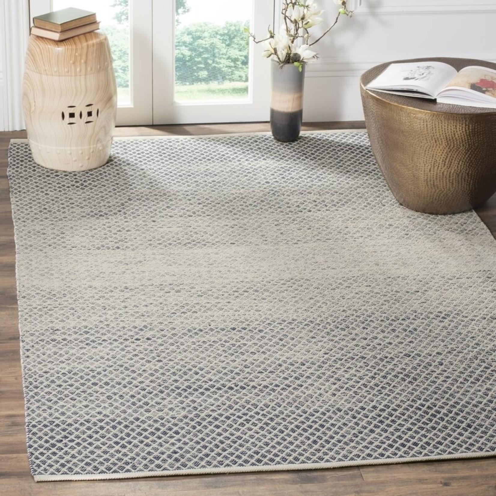 *3' x 5' - Saleem Geometric Handmade Flatweave Cotton Navy/Ivory Area Rug