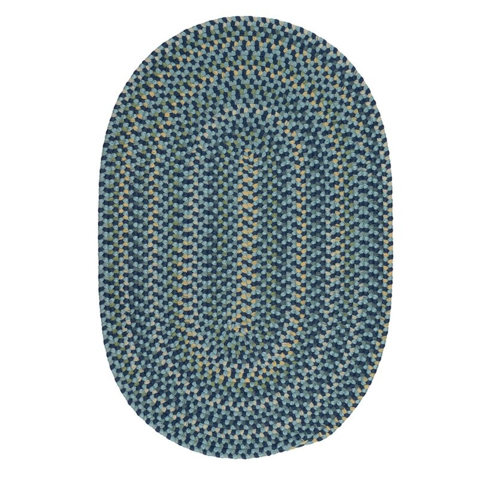 *3' x 5' Oval - Glafira Braided Blue Rug
