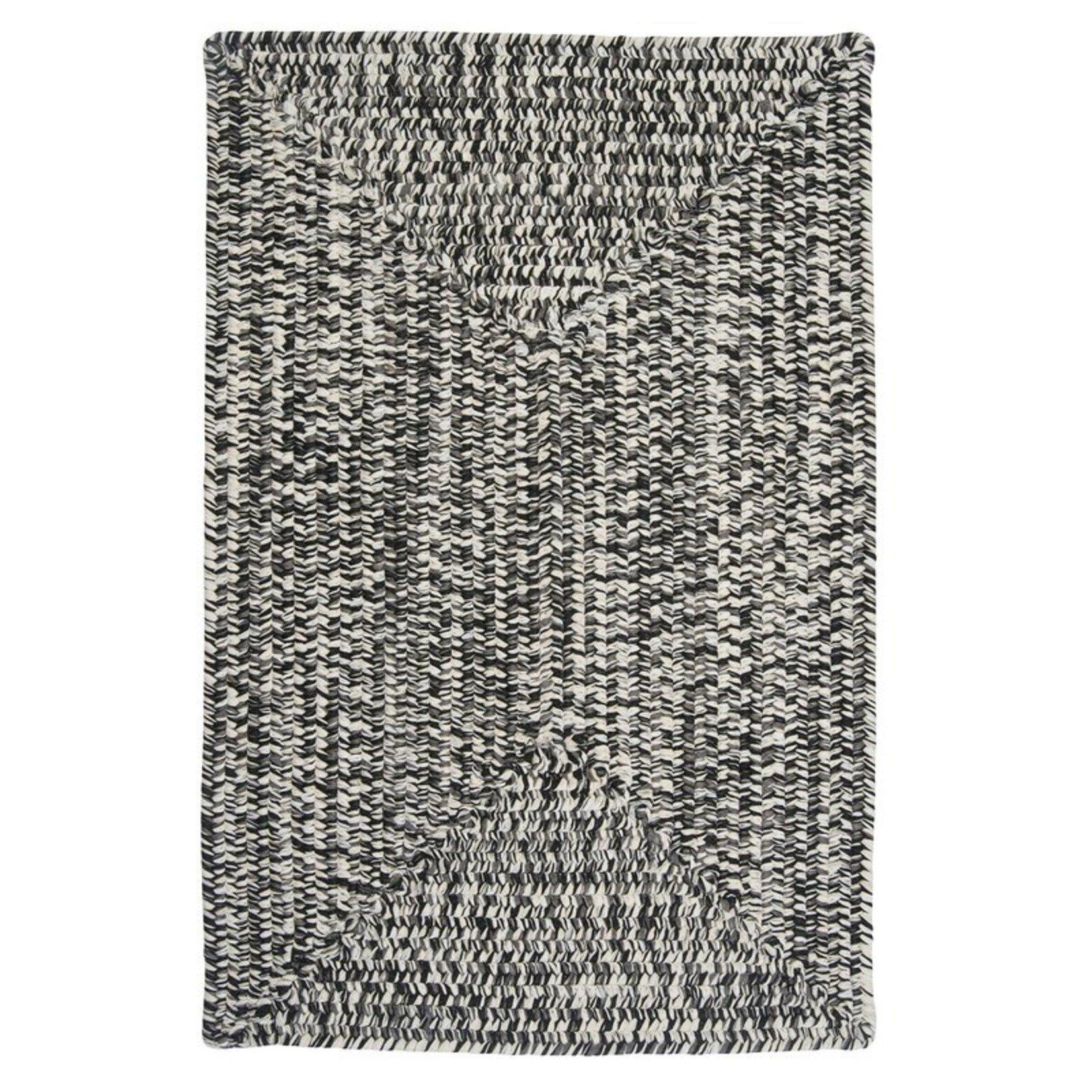 *3' x 5' - Hawkins Chevron Braided Black/White Area Rug