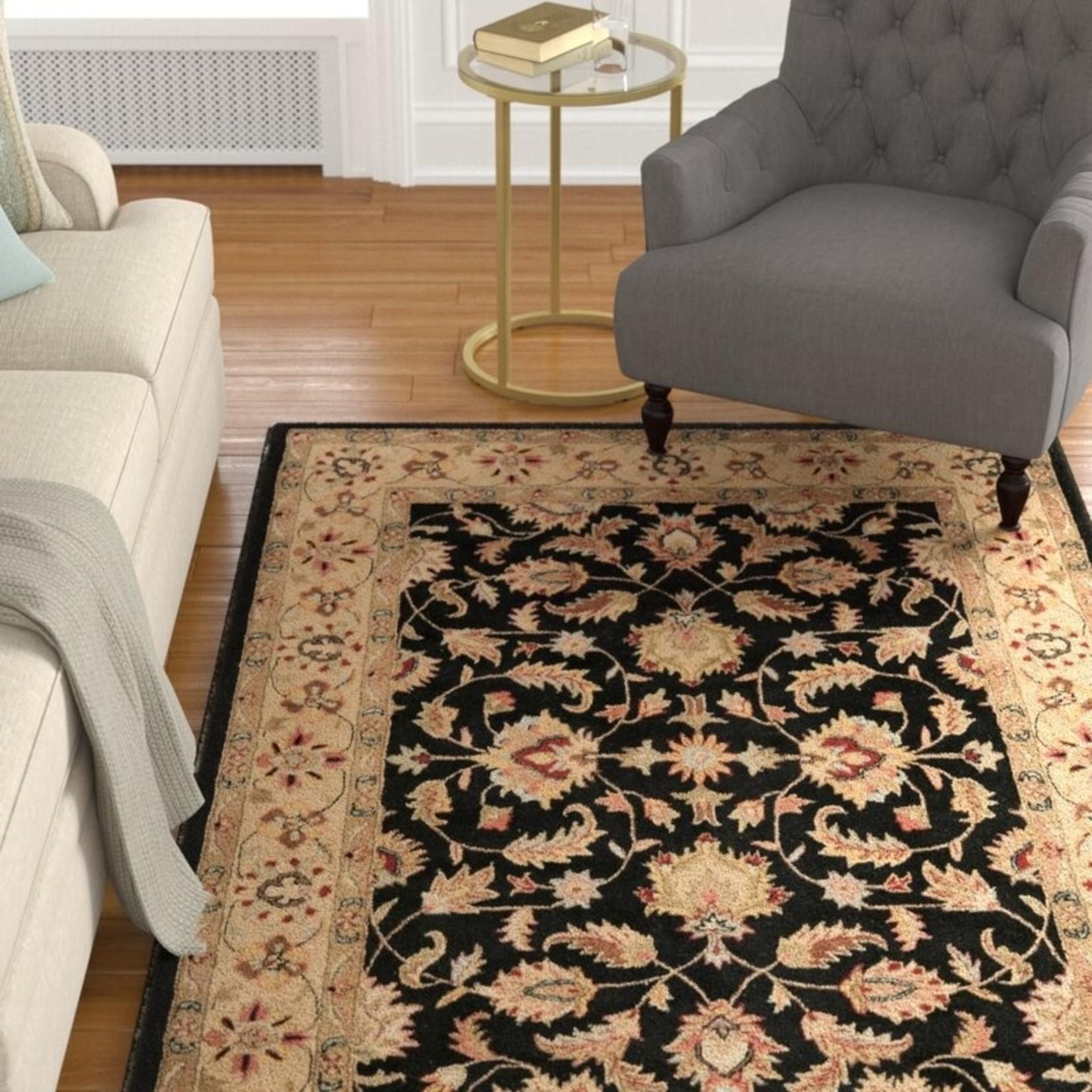 """*9'6"""" x 13'6"""" - Cranmore Oriental Handmade Tufted Wool Black/Beige Area Rug"""