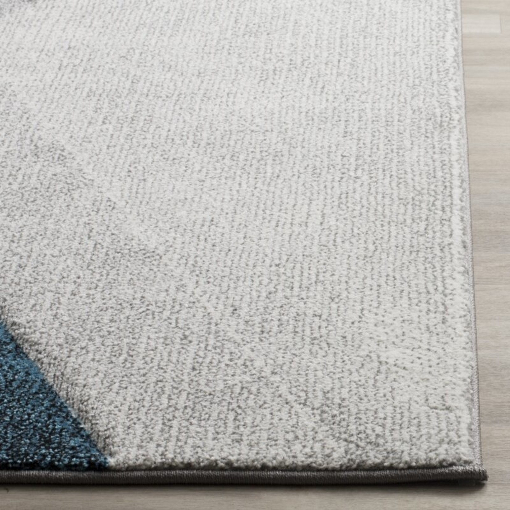 """*5'3"""" x 7'6"""" - Anne Abstract Gray/Teal Area Rug"""