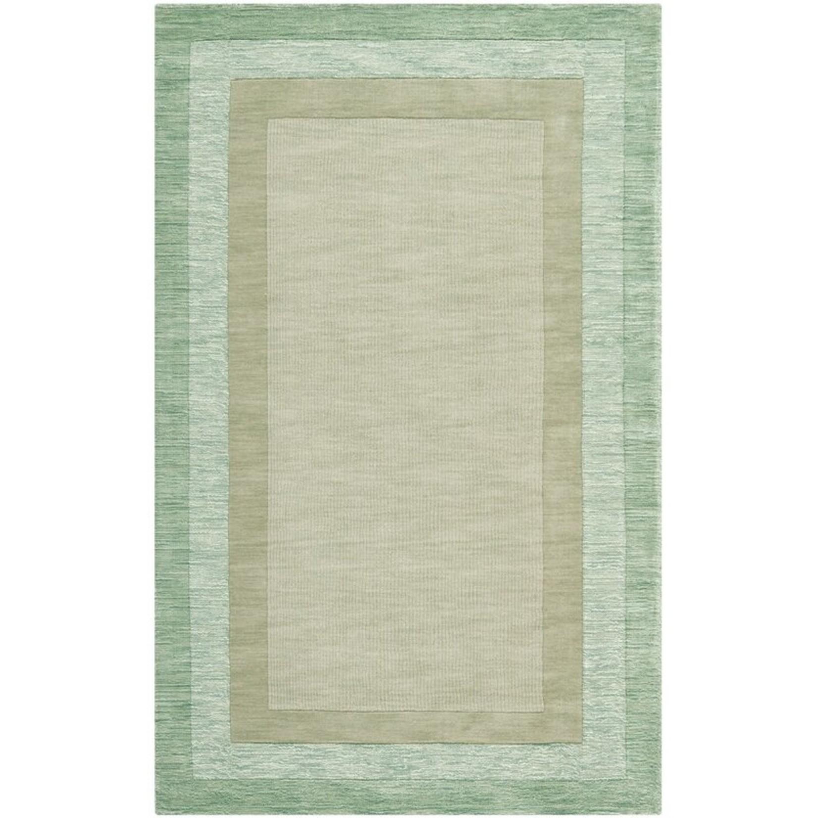 *5' x 8' - Frederica Hand-Hooked Wool Green/Beige Area Rug
