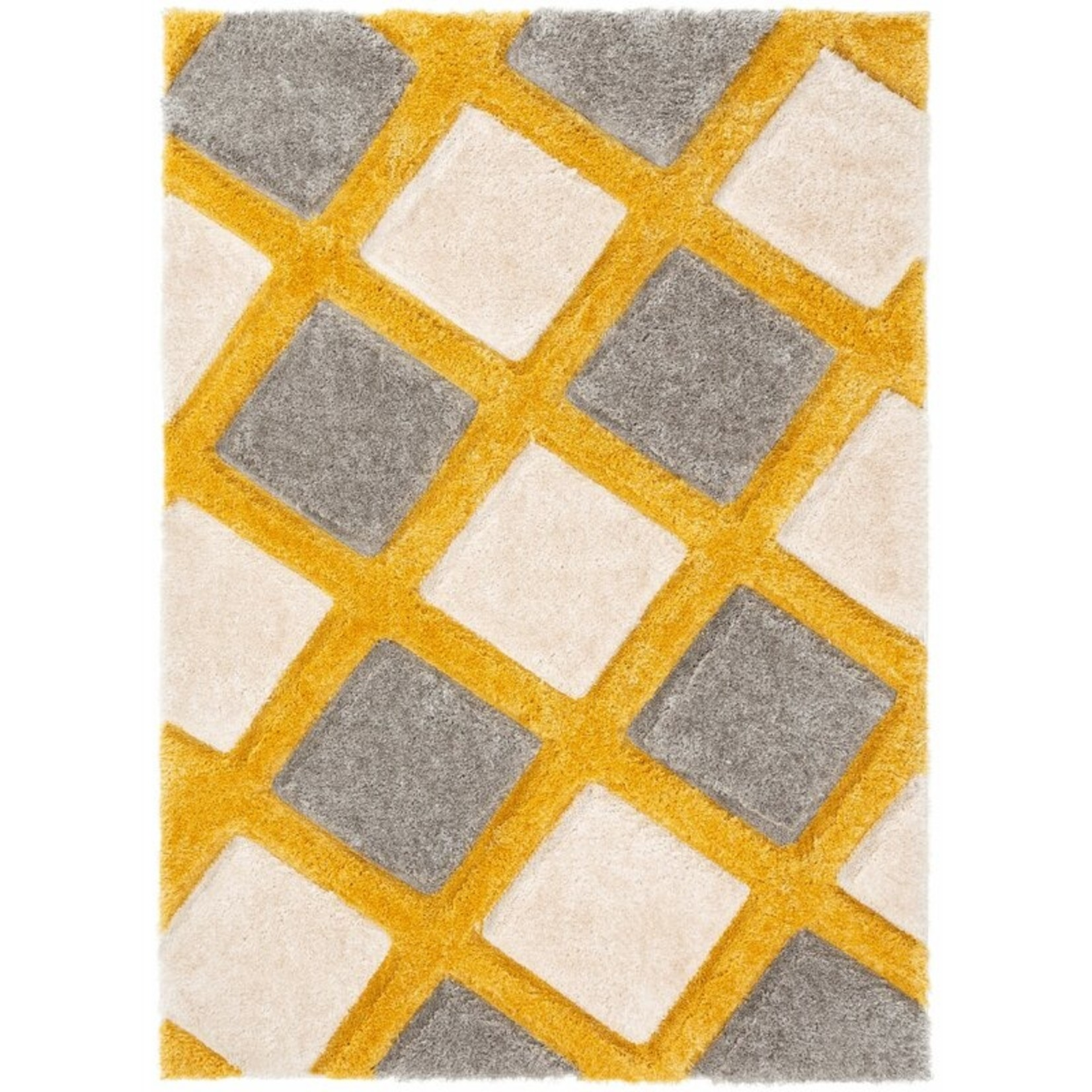 "*5'3"" x 7'3"" - San Francisco Shag Yellow/Gray Area Rug"