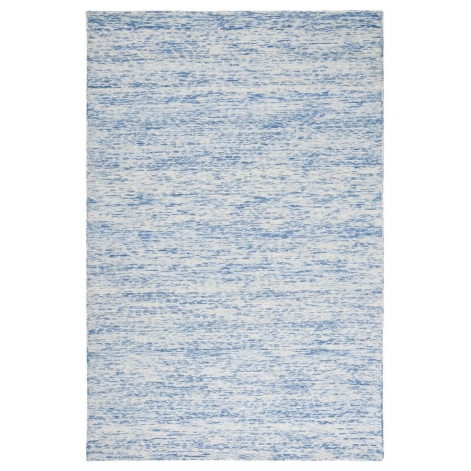 *5' x 8' - Nasir Handwoven Wool Blue Area Rug