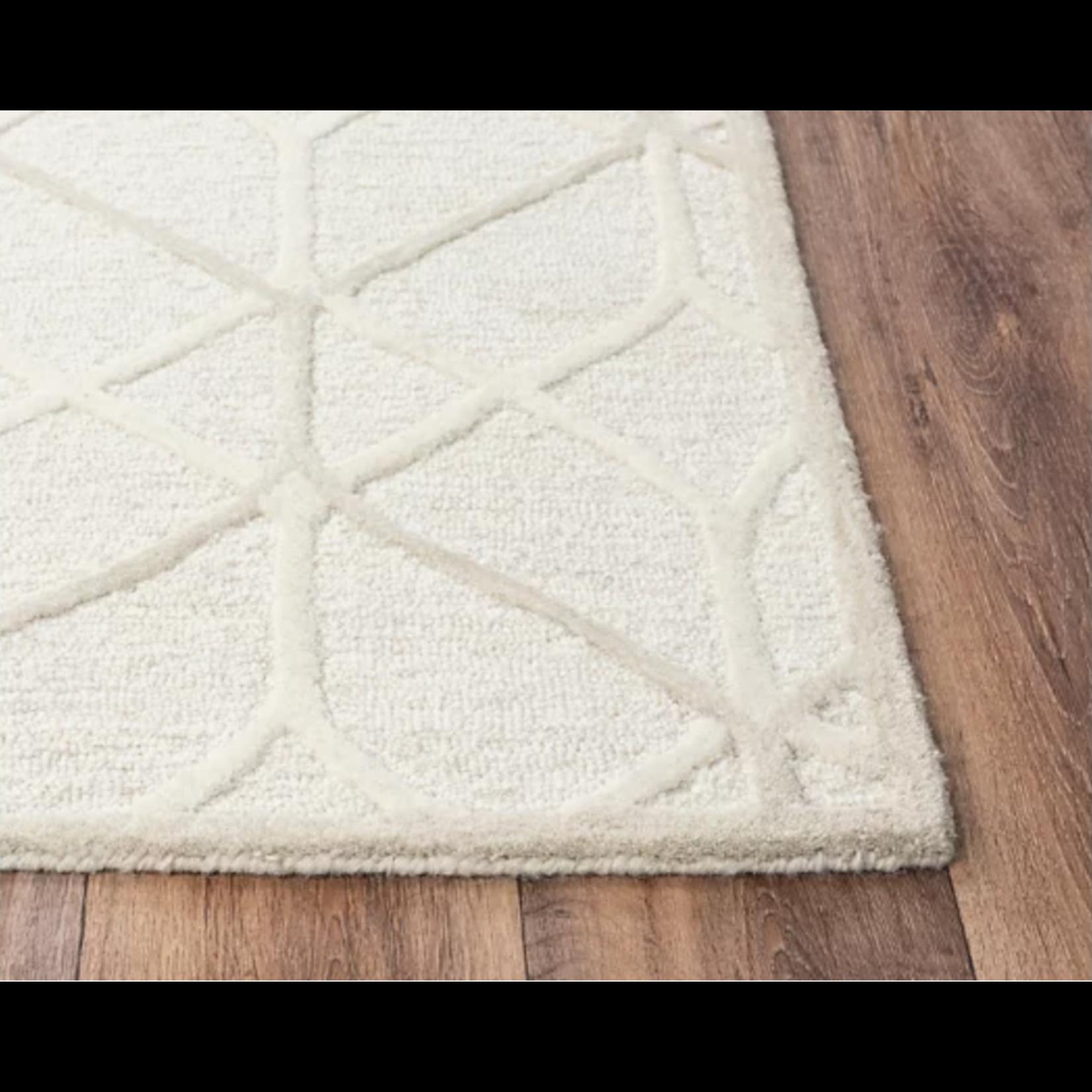 *5' x 7' - 100% Beige Wool Hand Tufted Area Rug