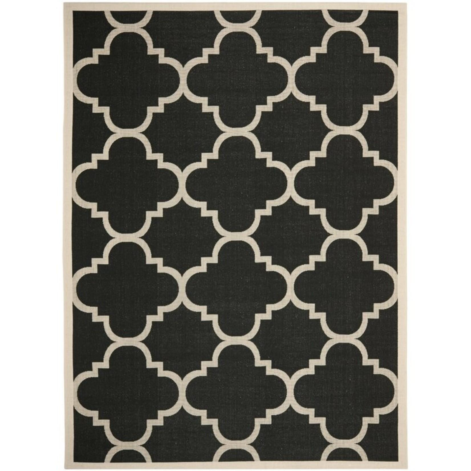 *8' x 11' - Adelia Geometric Black/Beige Indoor/Outdoor Area Rug