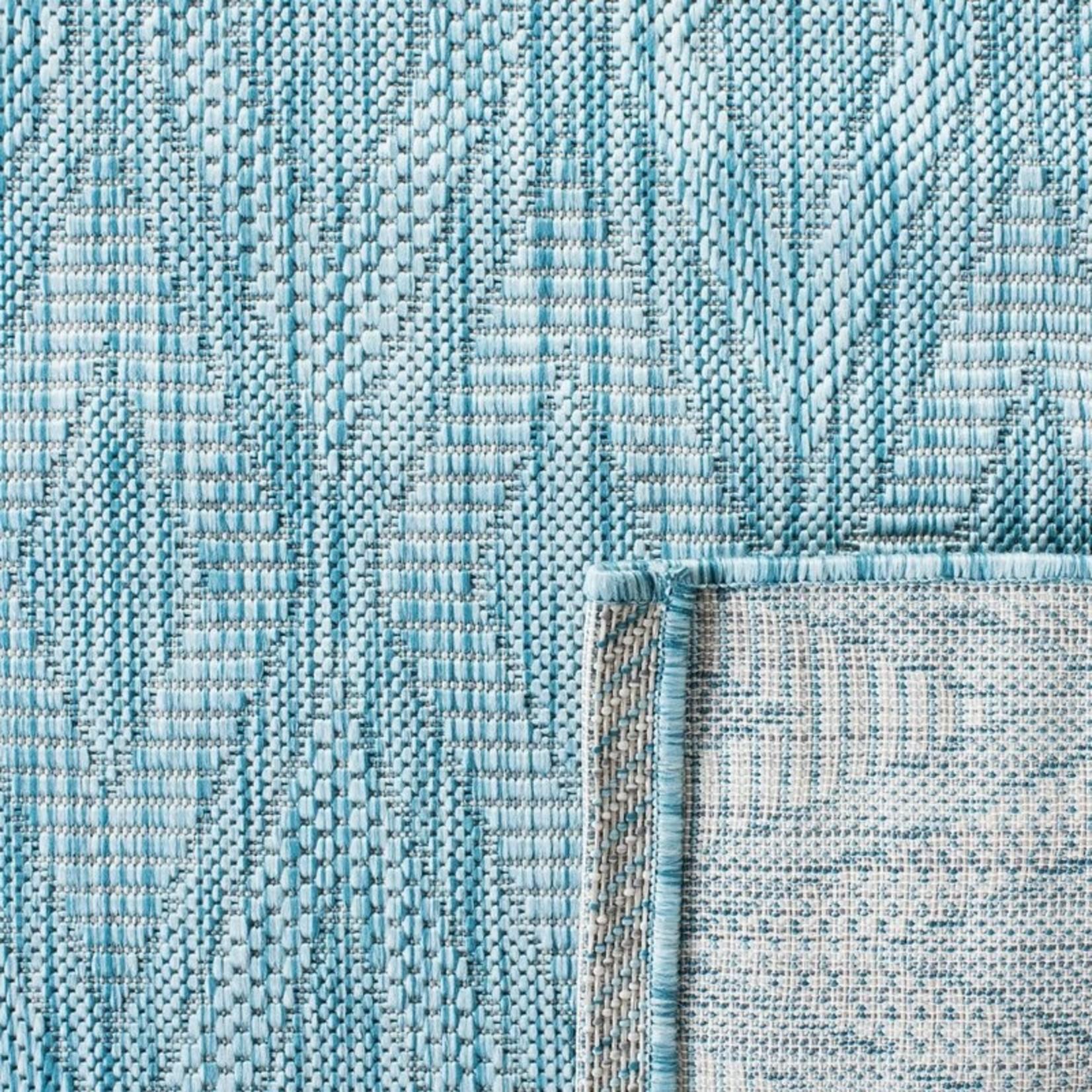*8' x 10' - Levant Geometric Aqua Area Rug