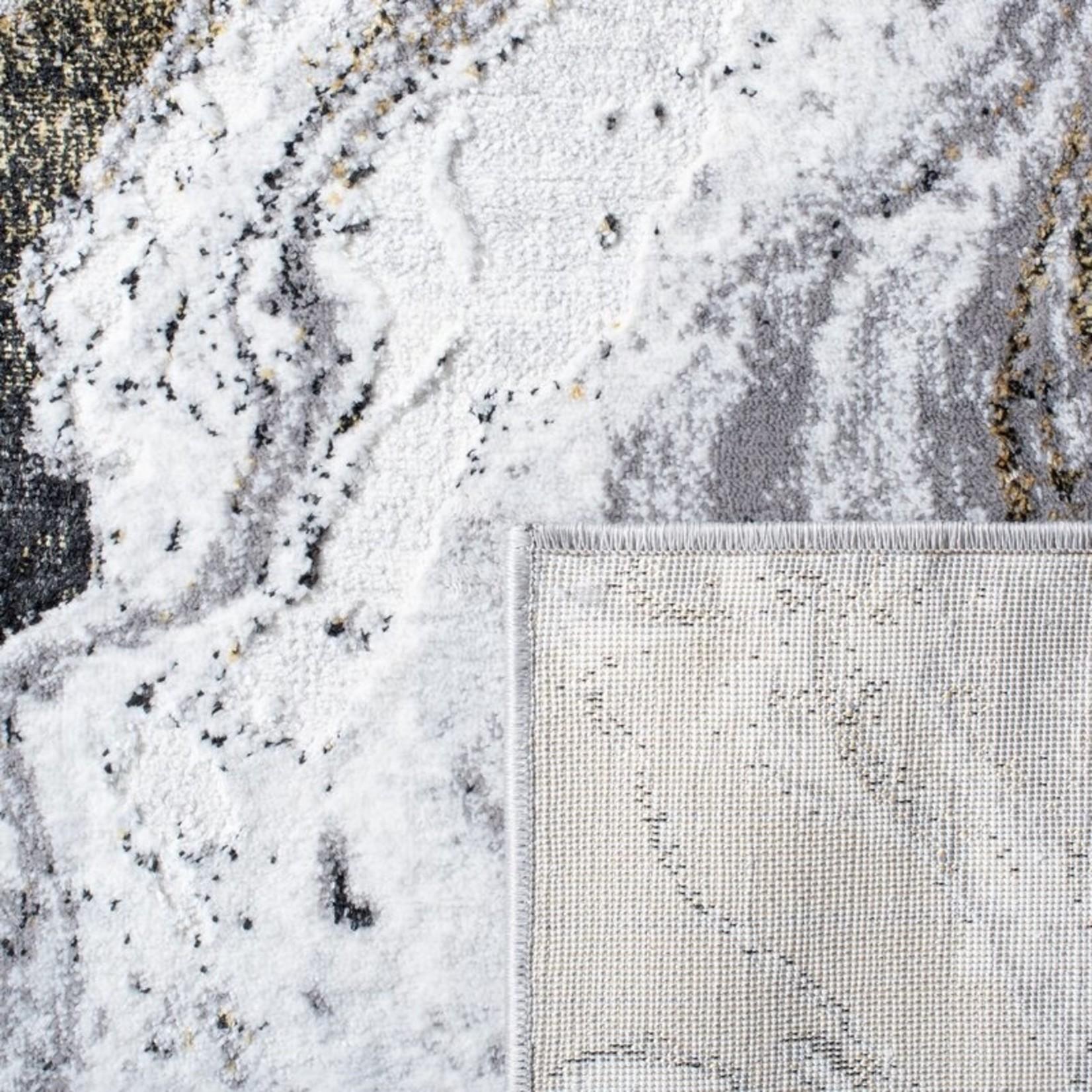 "*6'7"" x 6'7"" Sqaure - Kira Abstract Gray Area Rug"