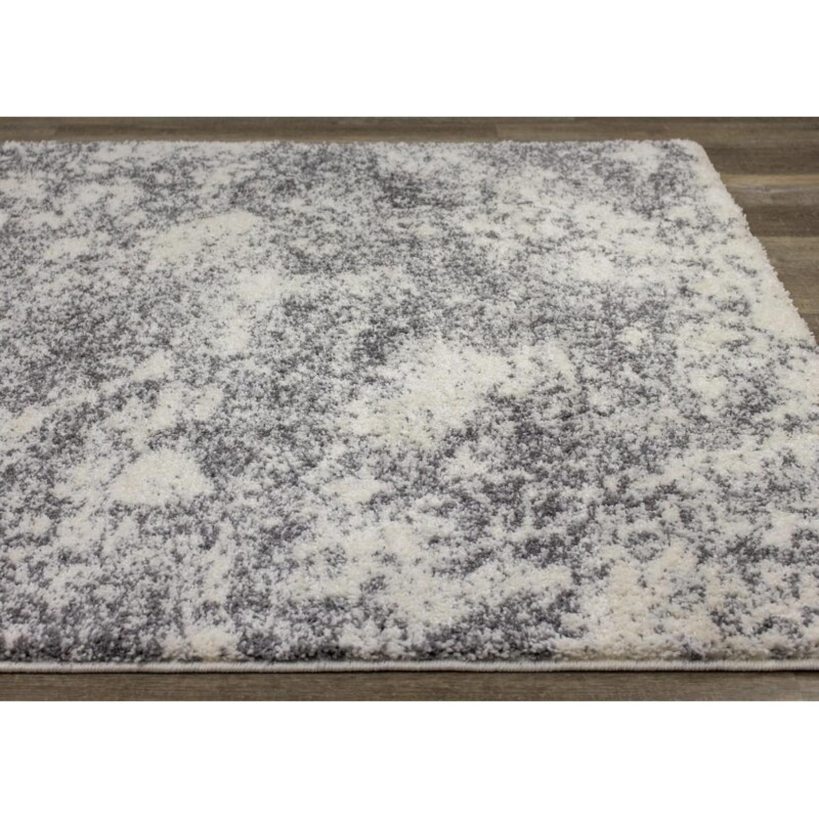 "*7'10"" x 10'6"" - Agnesse Power Loom White/Black Rug"