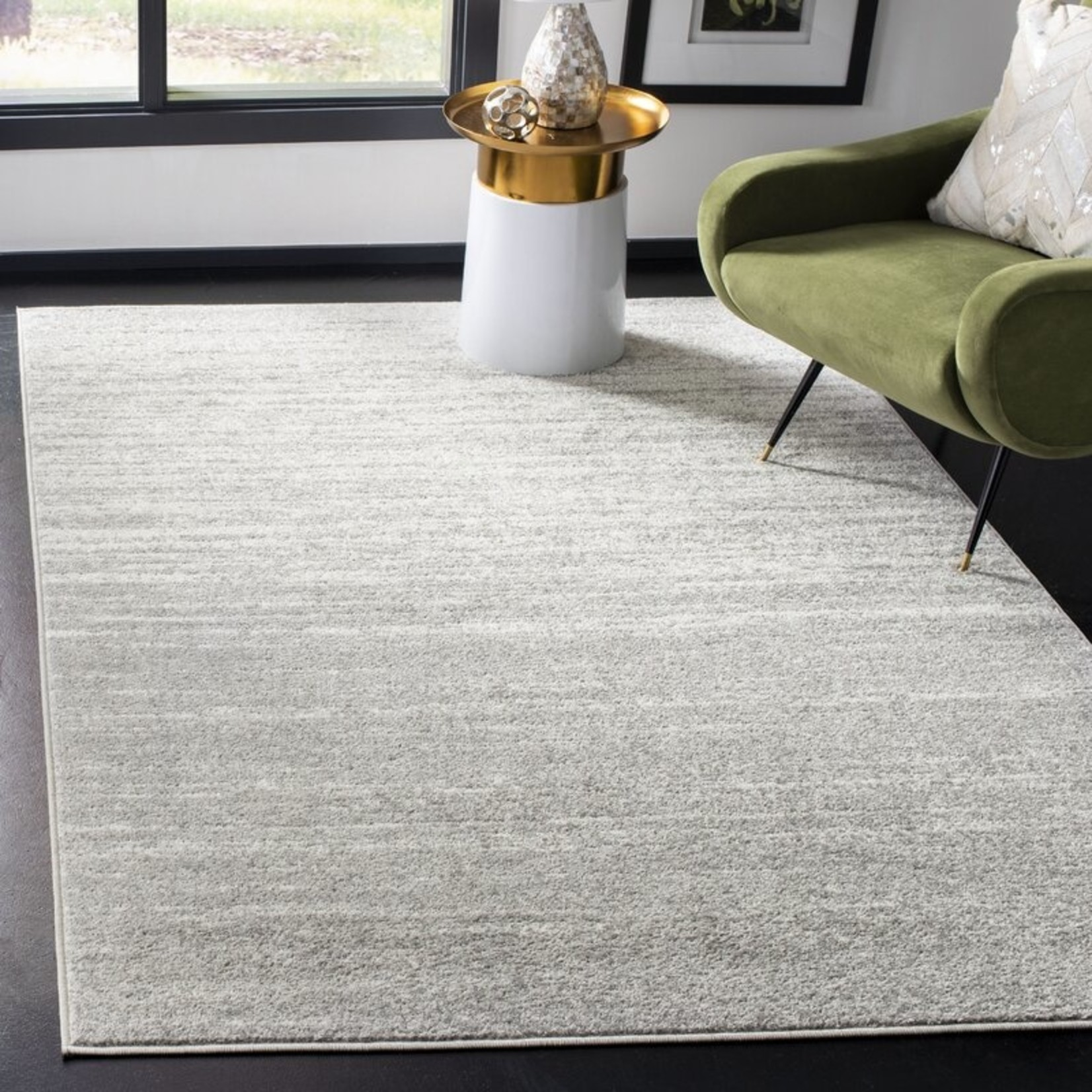 """*5'1""""  x 7'6"""" - Mcguire Ivory/Silver Area Rug"""