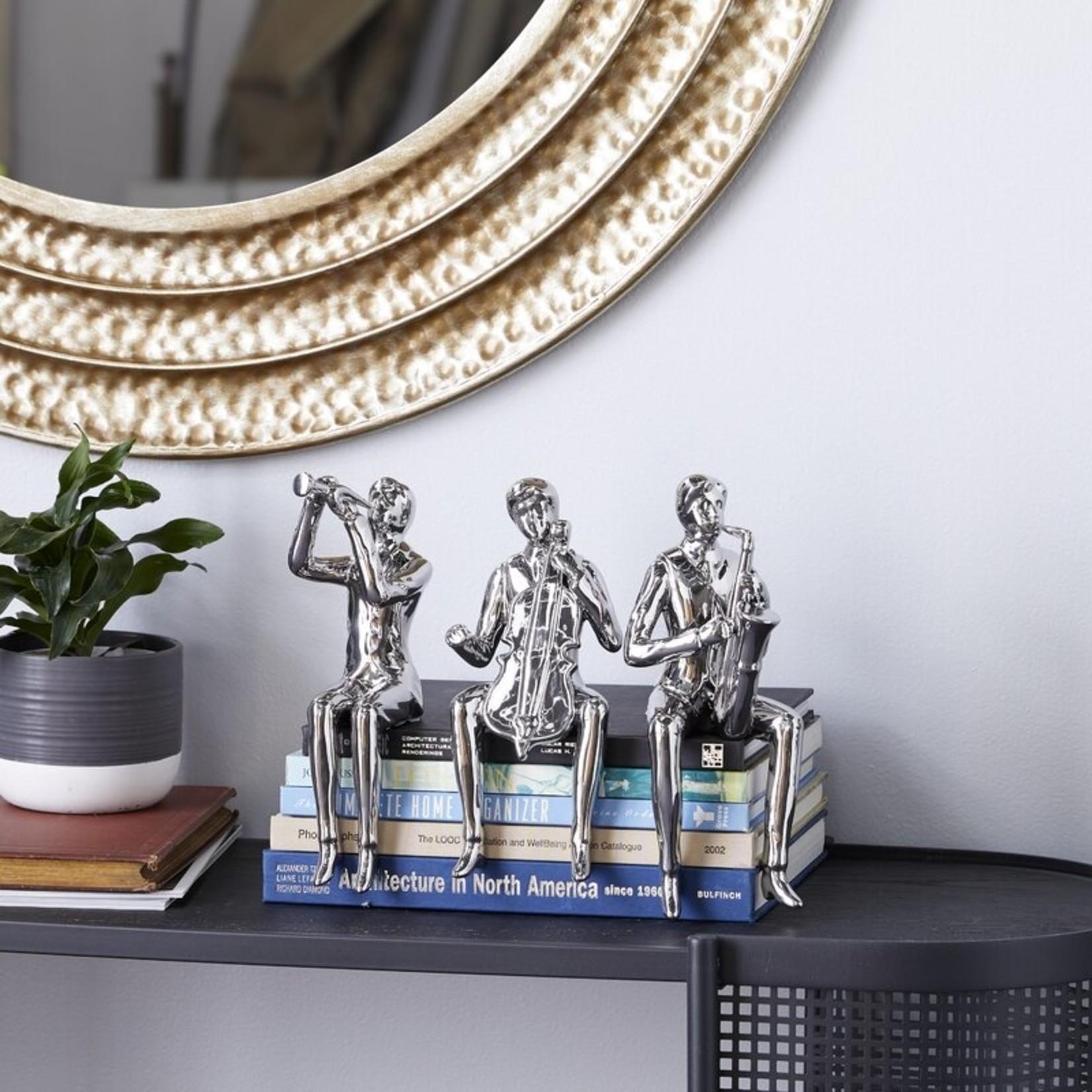 *3 Piece Ceramic Sitting Musicians Figurine Set
