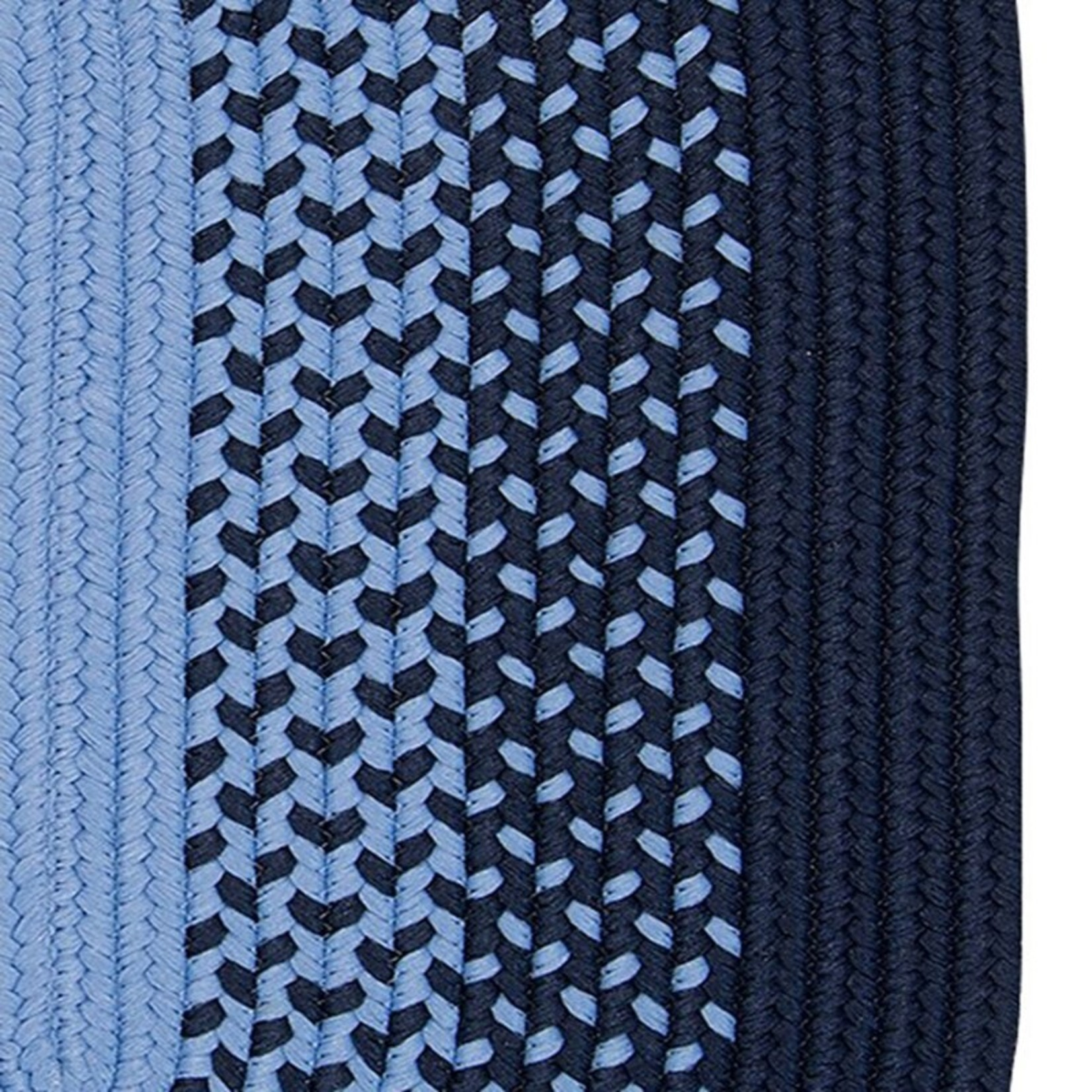 *4' x 6' Oval - Herewardus Braided Navy/Blue Indoor/Outdoor Rug