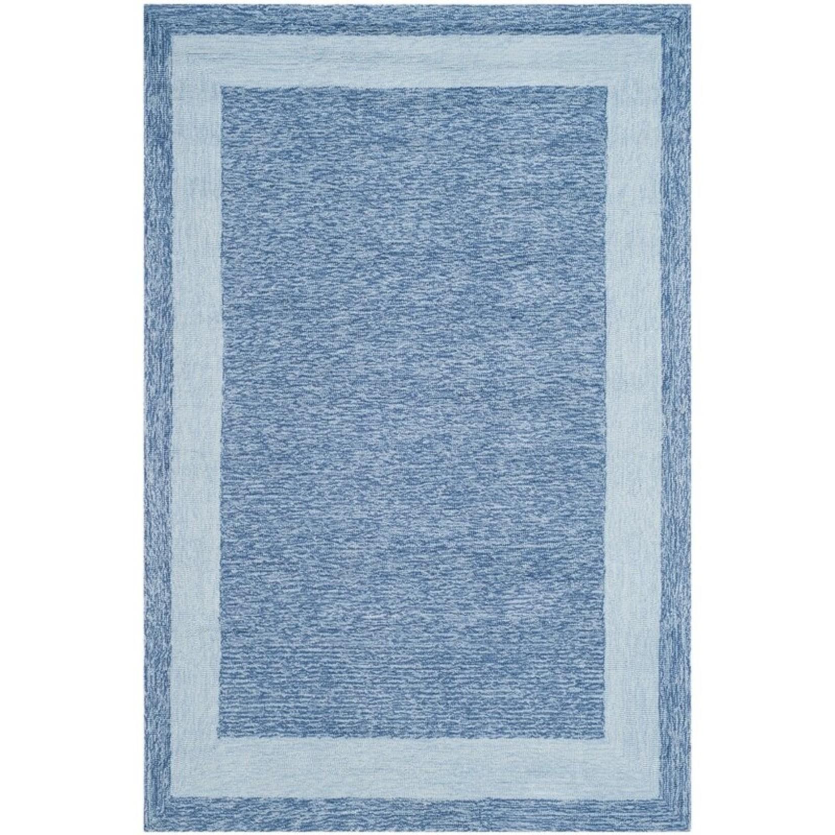*3' x 5' - Liadan Hand-Hooked Blue Area Rug