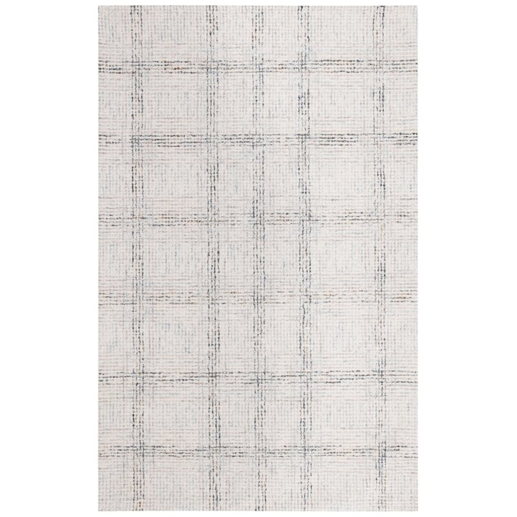 *4' x 6' - Tati Plaid Handmade Tufted Cotton/Wool Ivory/Gray Area Rug