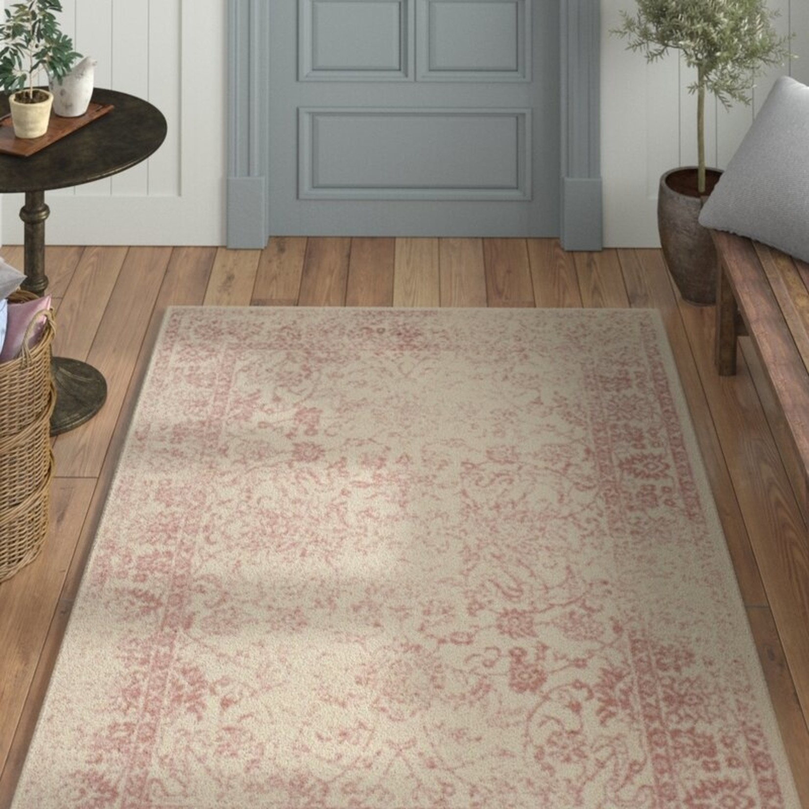 *3' x 5' - Howton Oriental Ivory/Red Area Rug